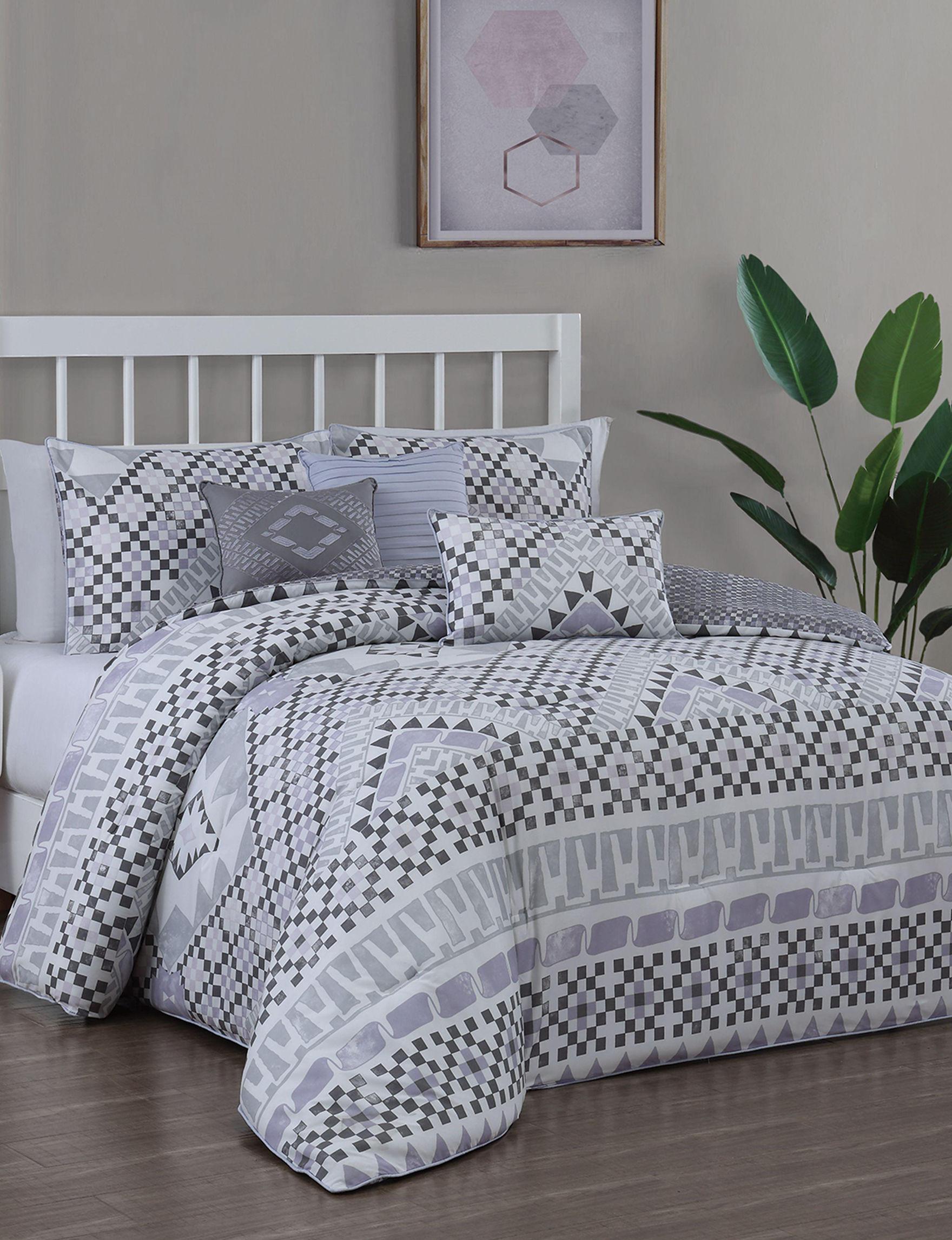 Aurora Stone Purple / Grey Comforters & Comforter Sets