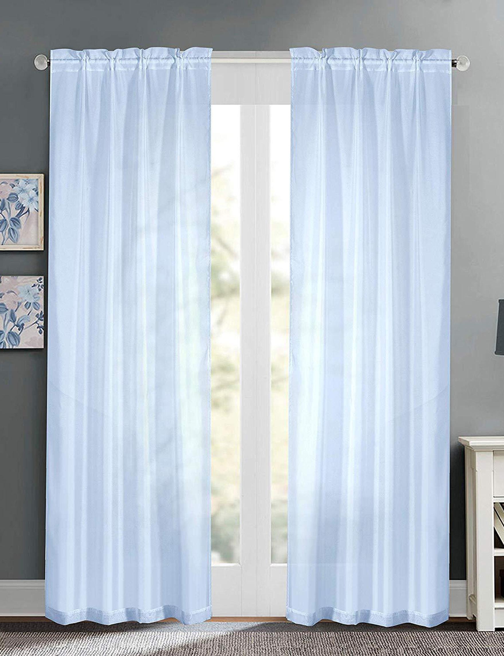 Casa Light Blue Curtains & Drapes Window Treatments