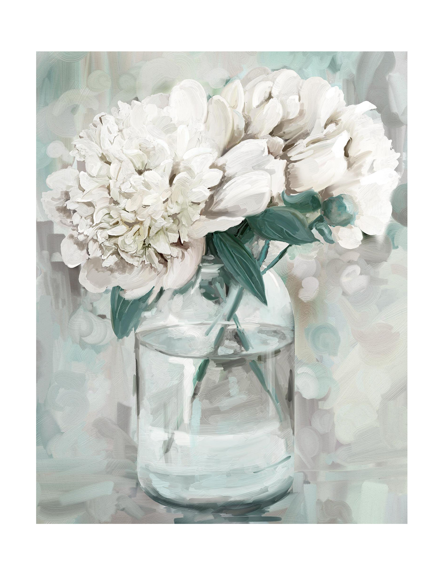 Crystal Art Gallery Ivory Floral Wall Art Wall Decor
