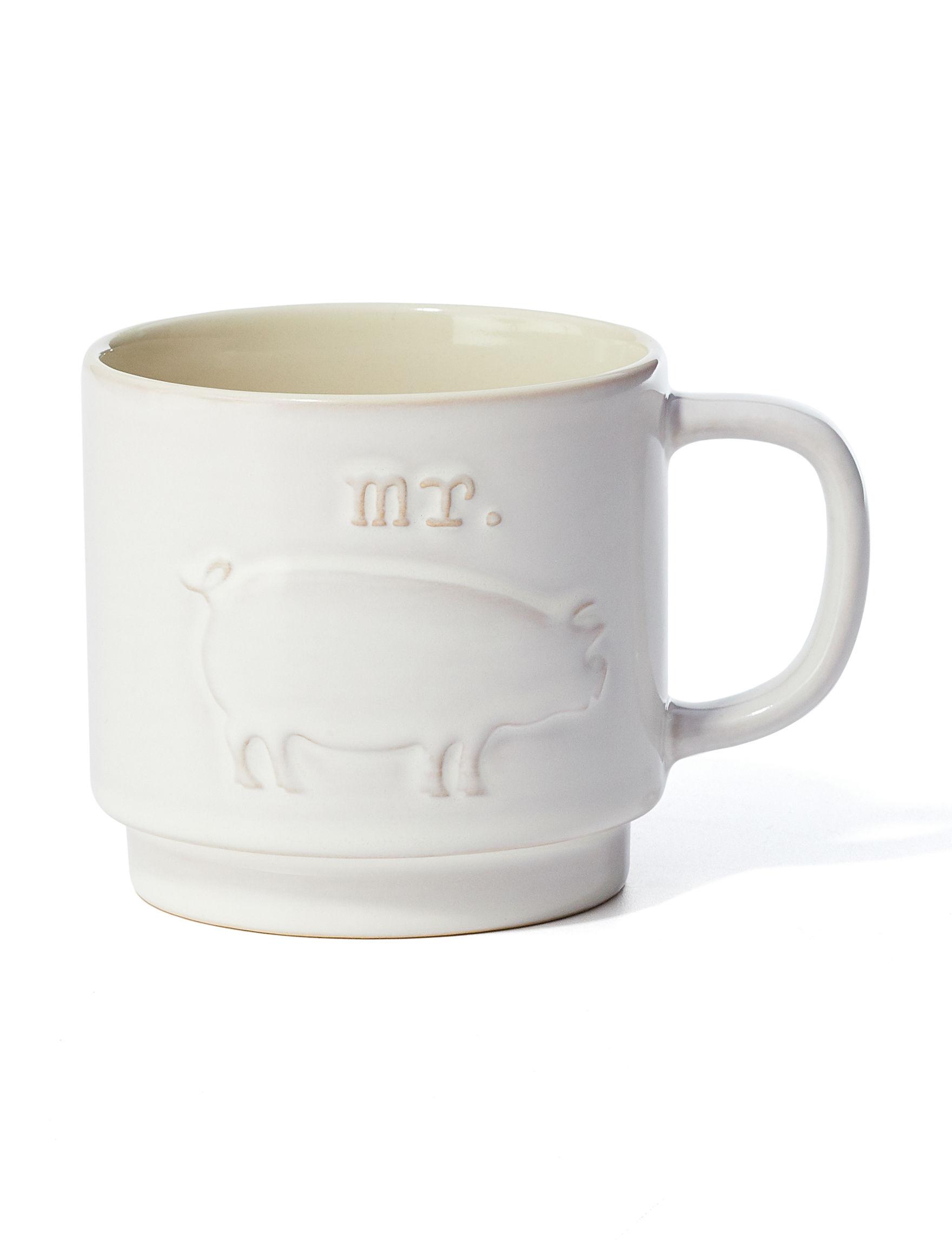 Enchante White Mugs Drinkware