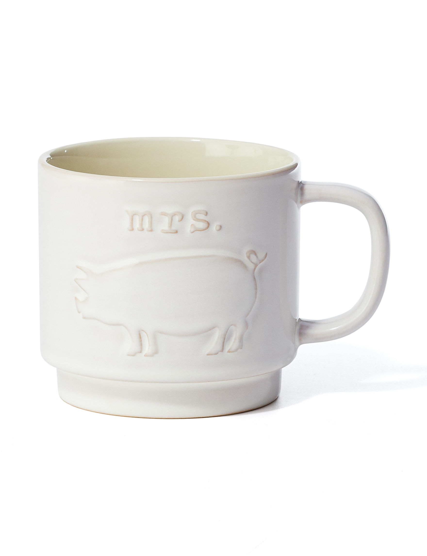 Enchante White Mugs Drinkware