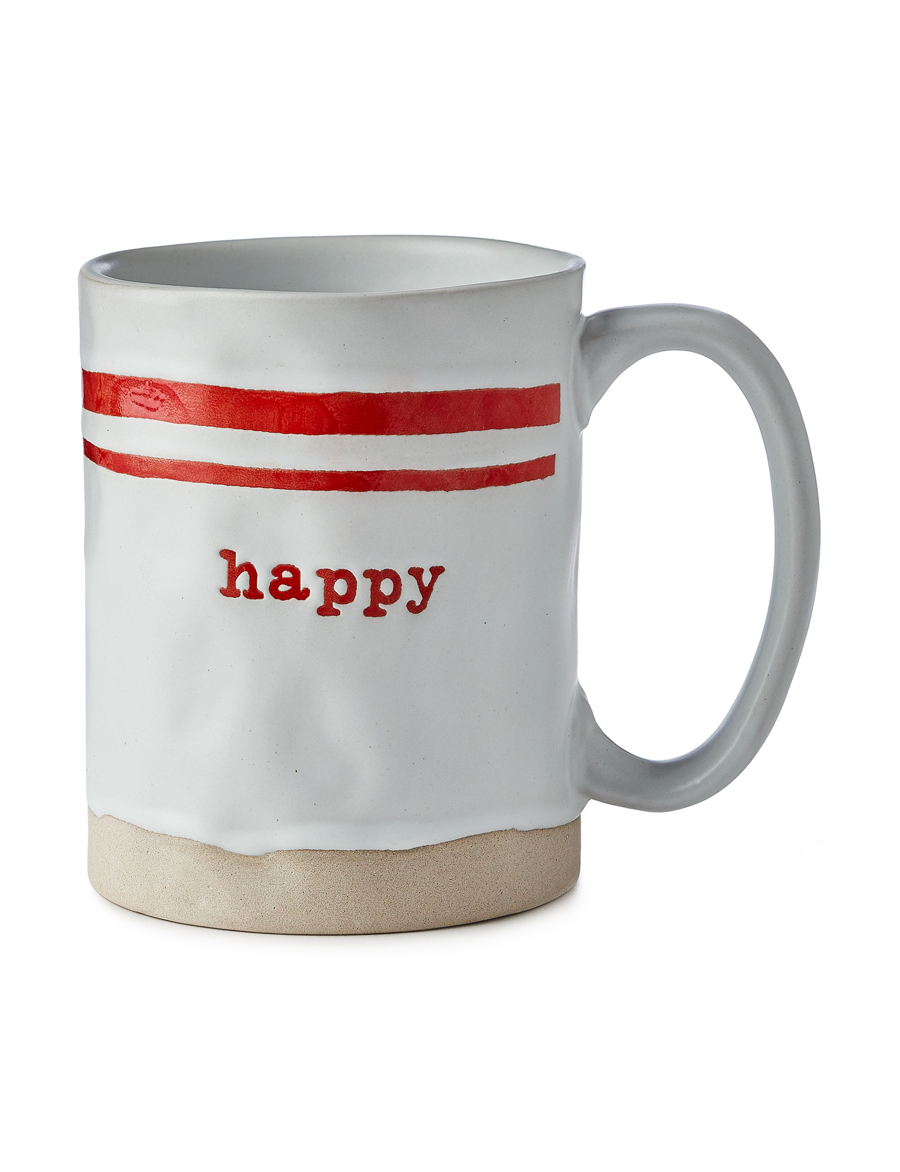 Enchante White / Red Mugs Drinkware