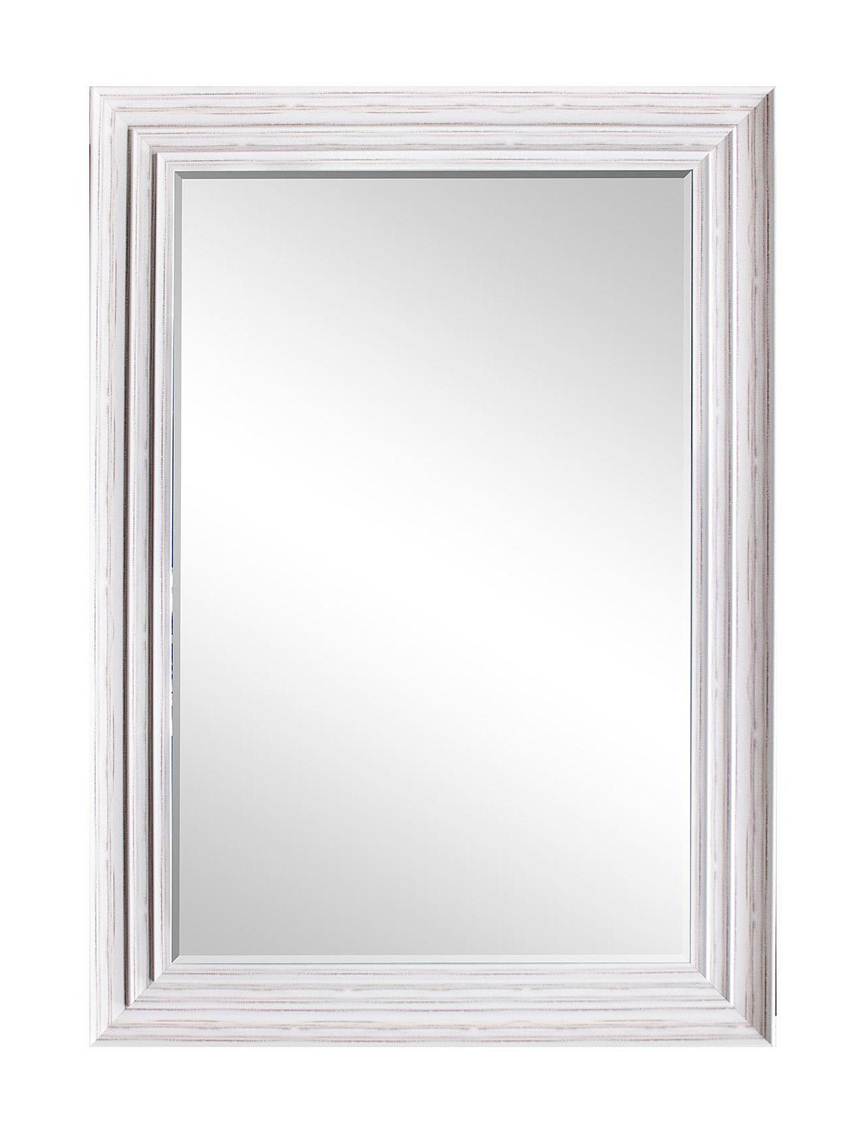 BP Industries White Mirrors Wall Decor