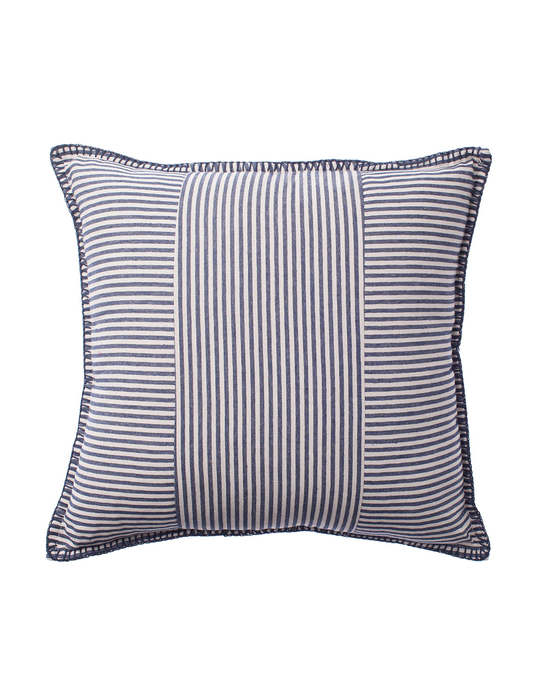 Deco White / Navy Decorative Pillows