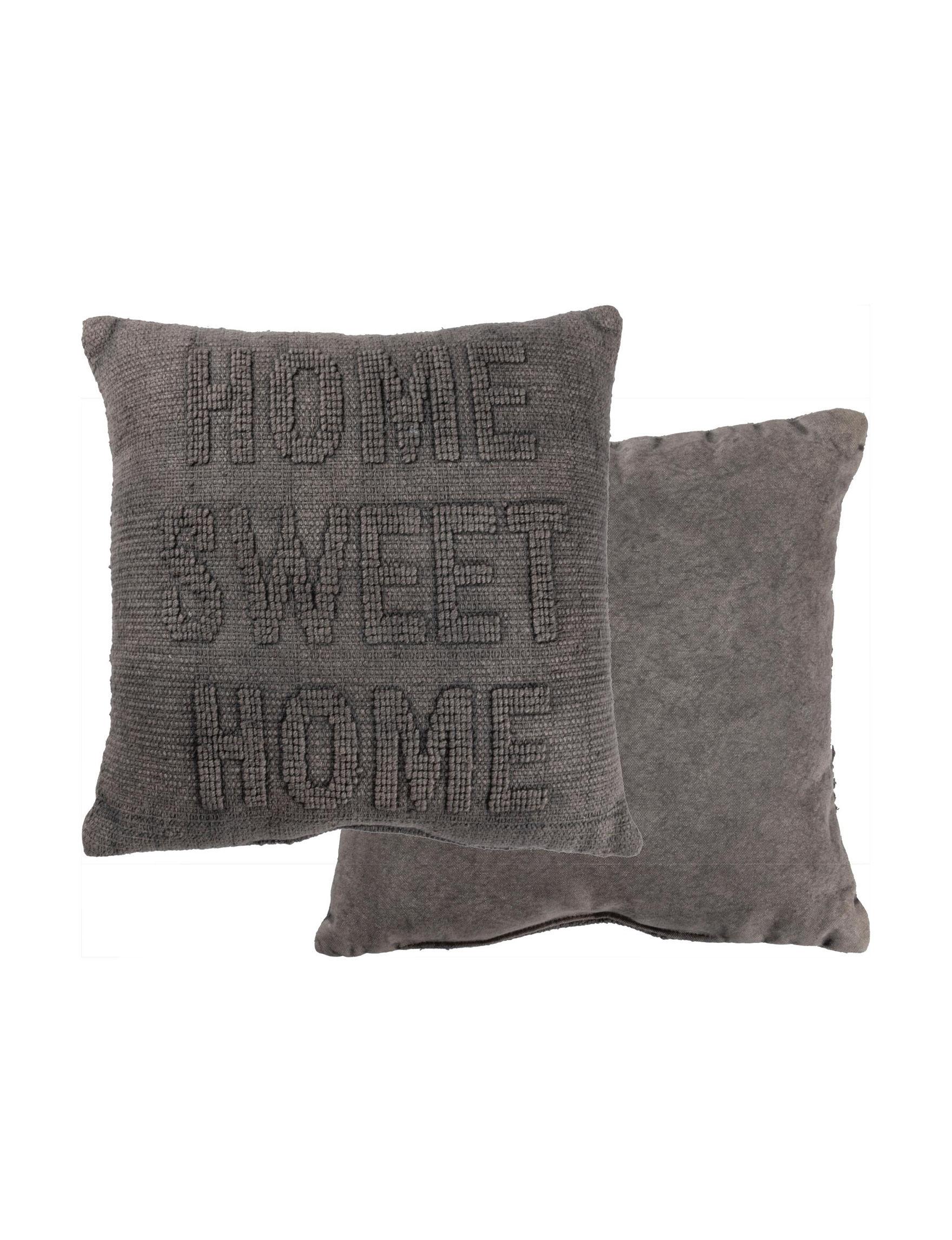 Primitives by Kathy Dark Grey Decorative Pillows
