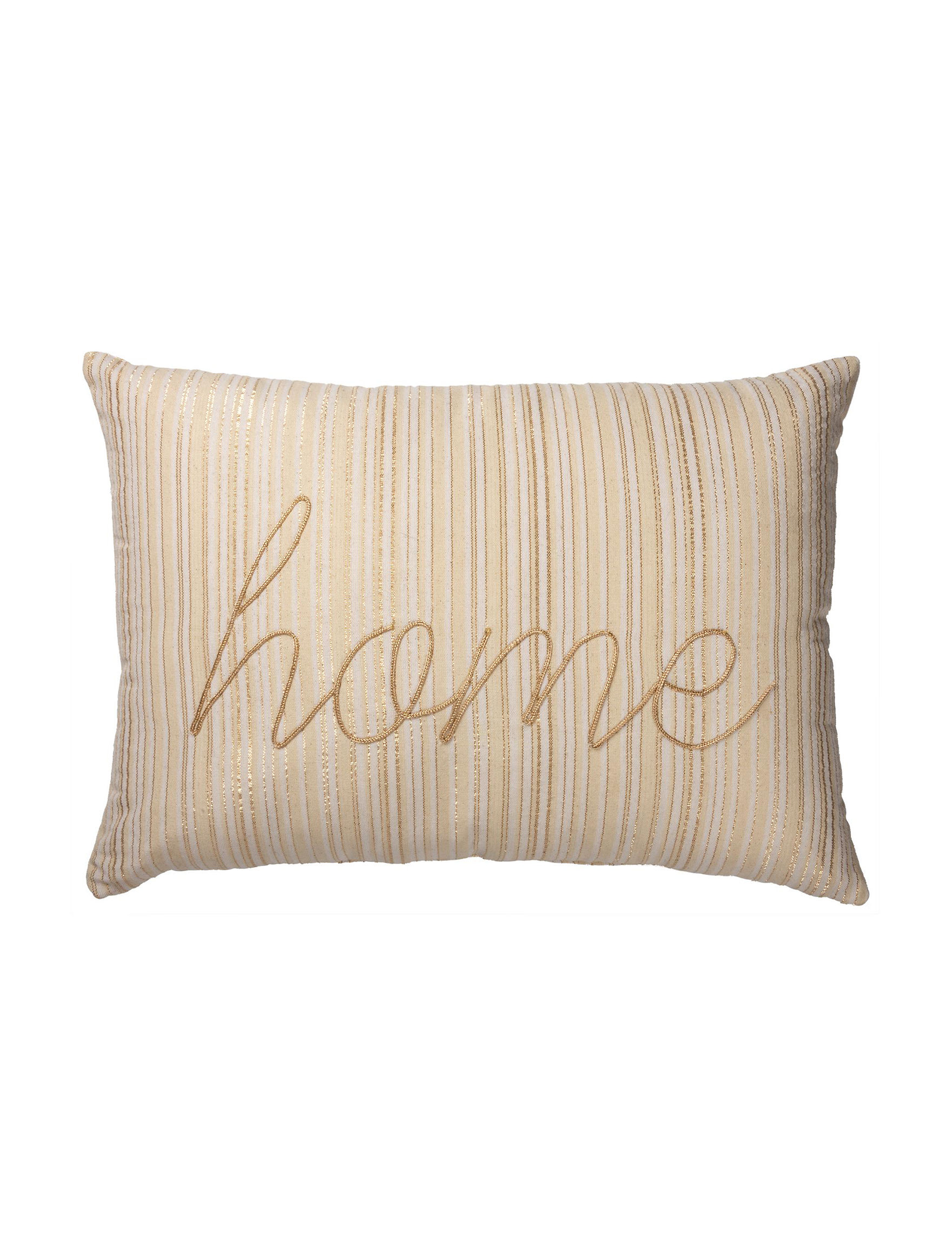 Primitives by Kathy Ivory Stripe Decorative Pillows