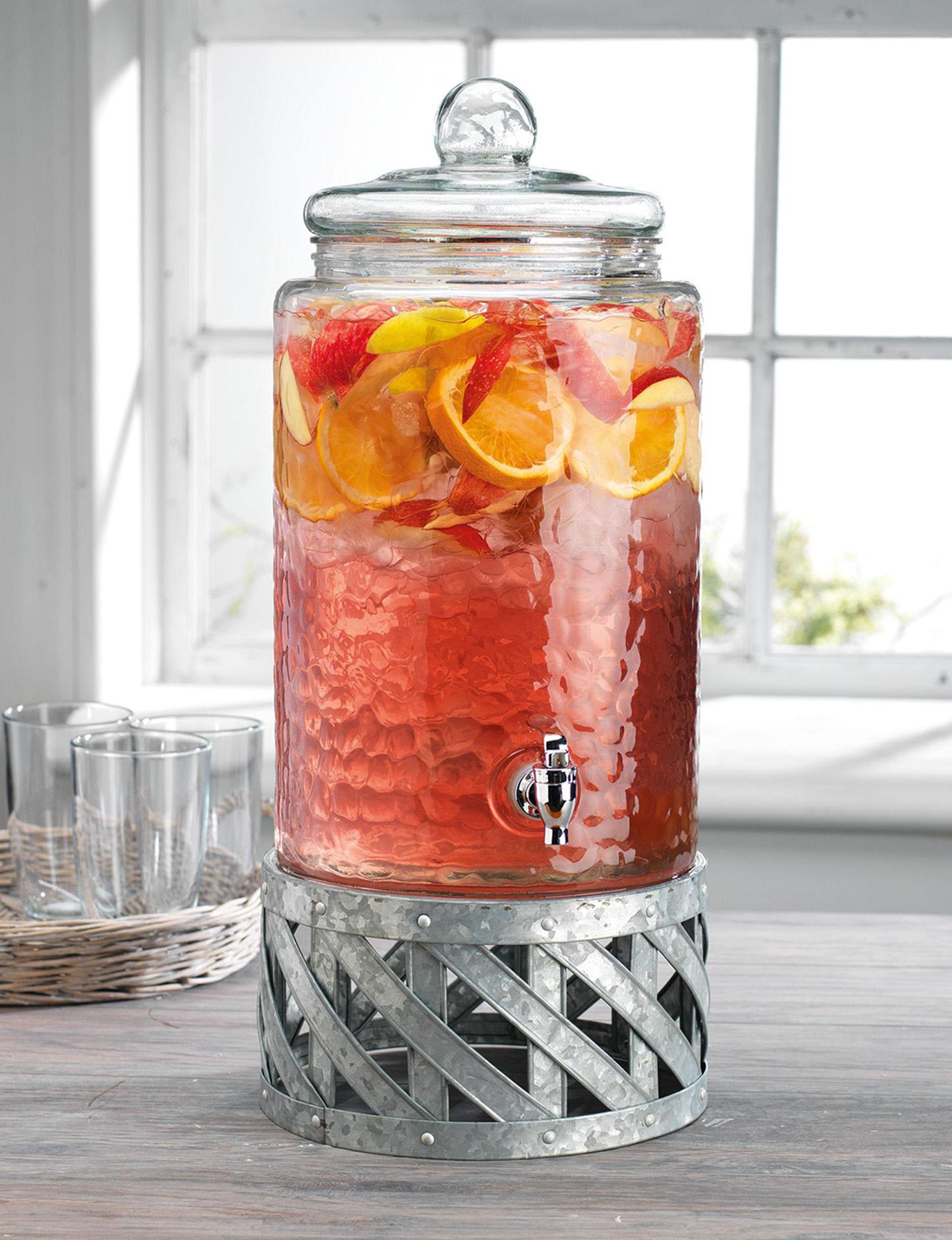 Home Essentials Silver / Glass Beverage Dispensers & Tubs Serveware