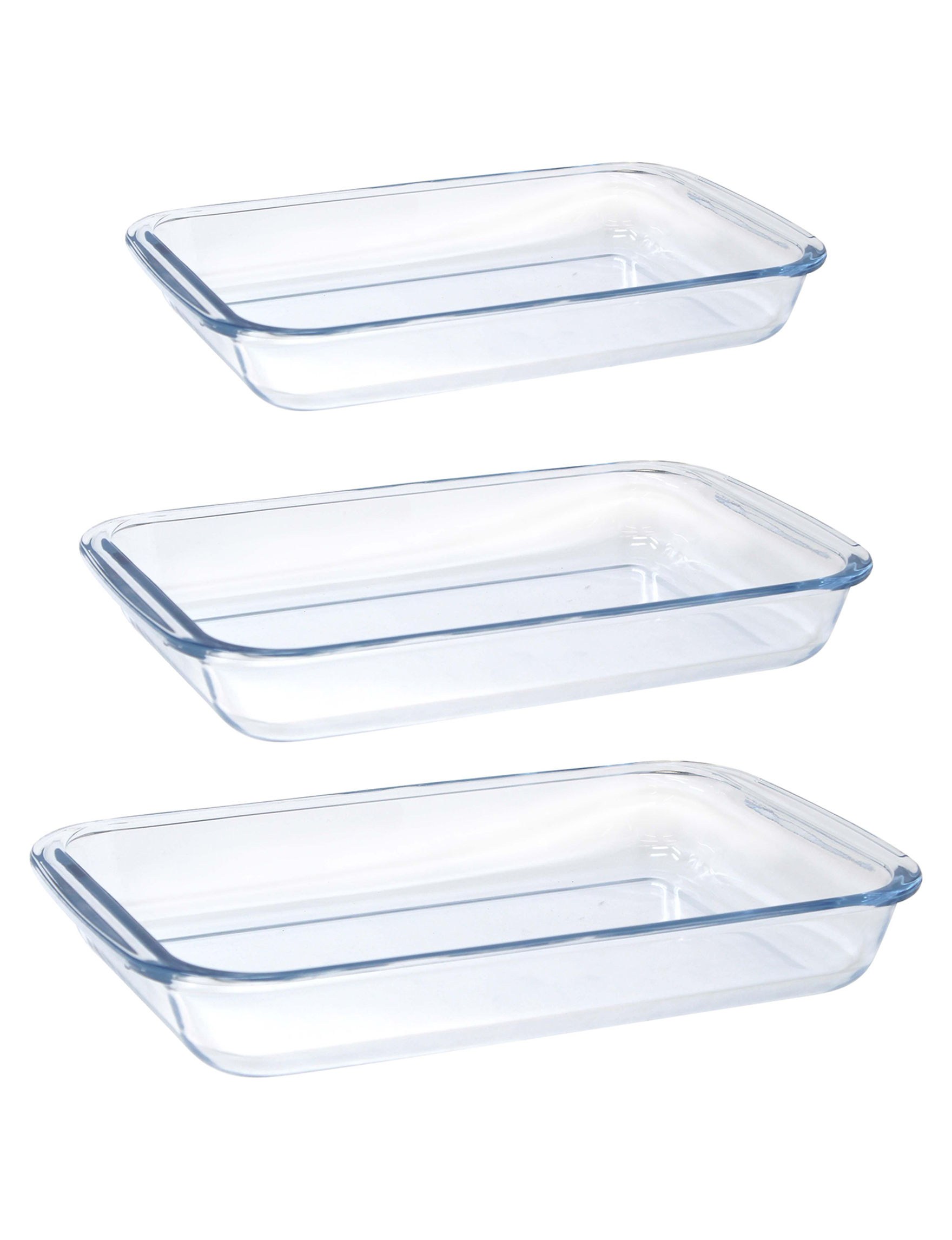 Gourmet Home Clear Bakeware