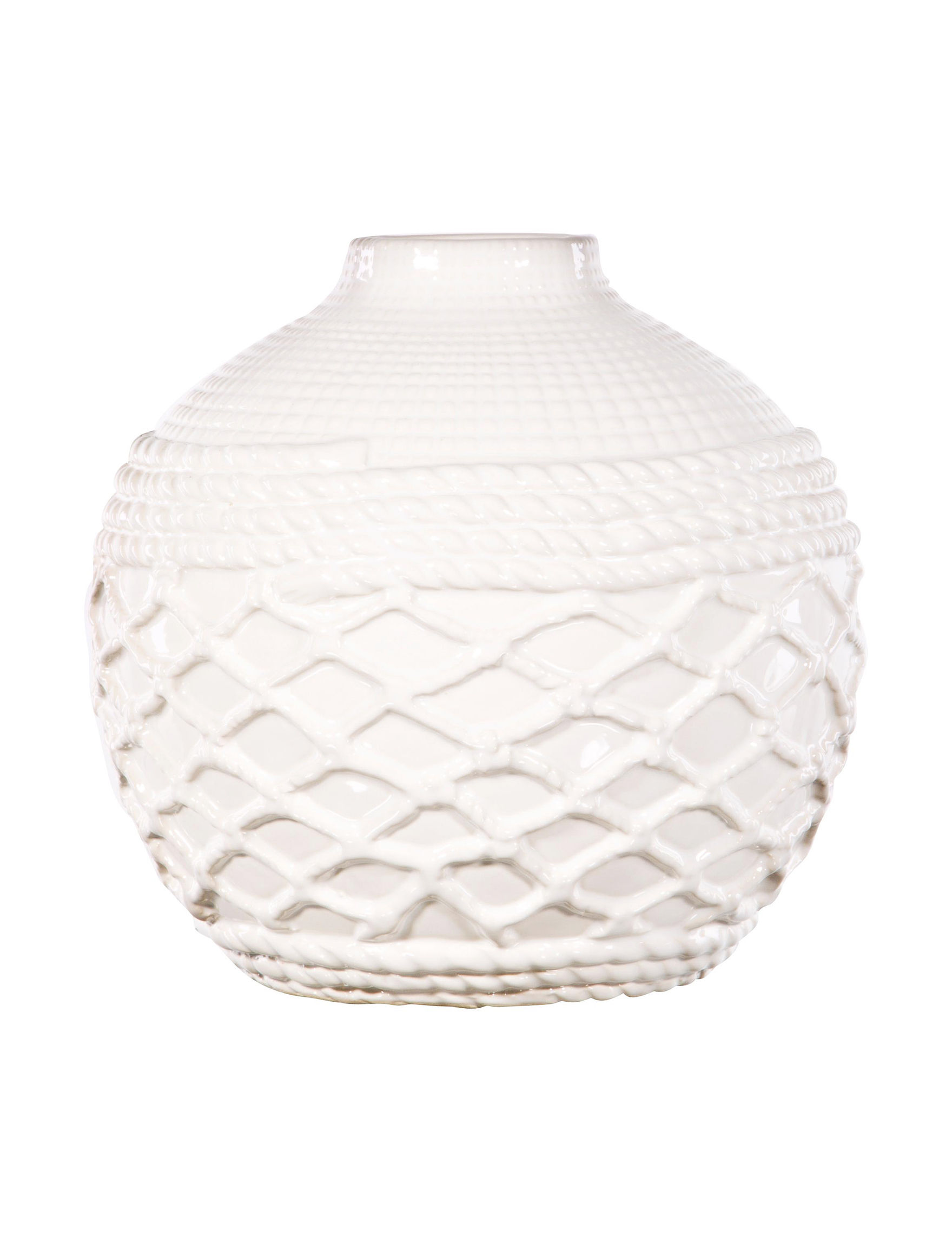 Home Essentials White Vases & Decorative Bowls Home Accents