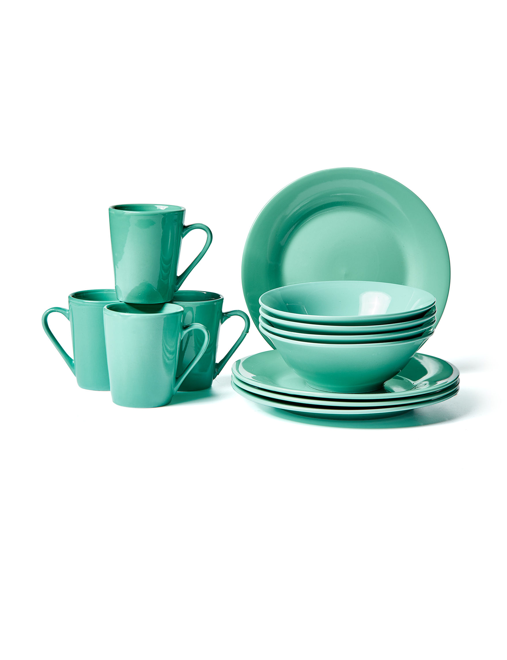 Gibson Aqua Dinnerware Sets Dinnerware