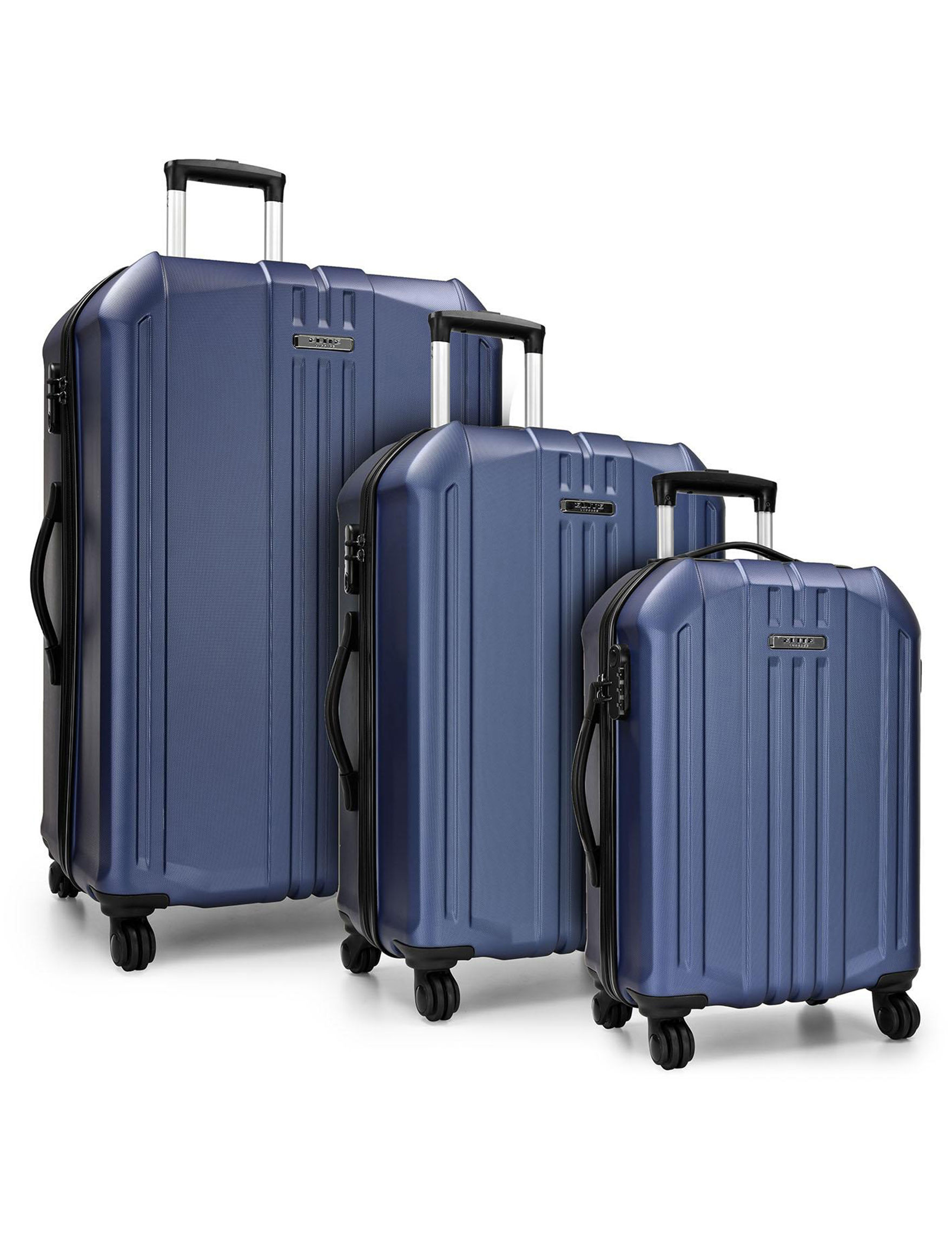 Travelers Choice Navy Hardside Upright Spinners
