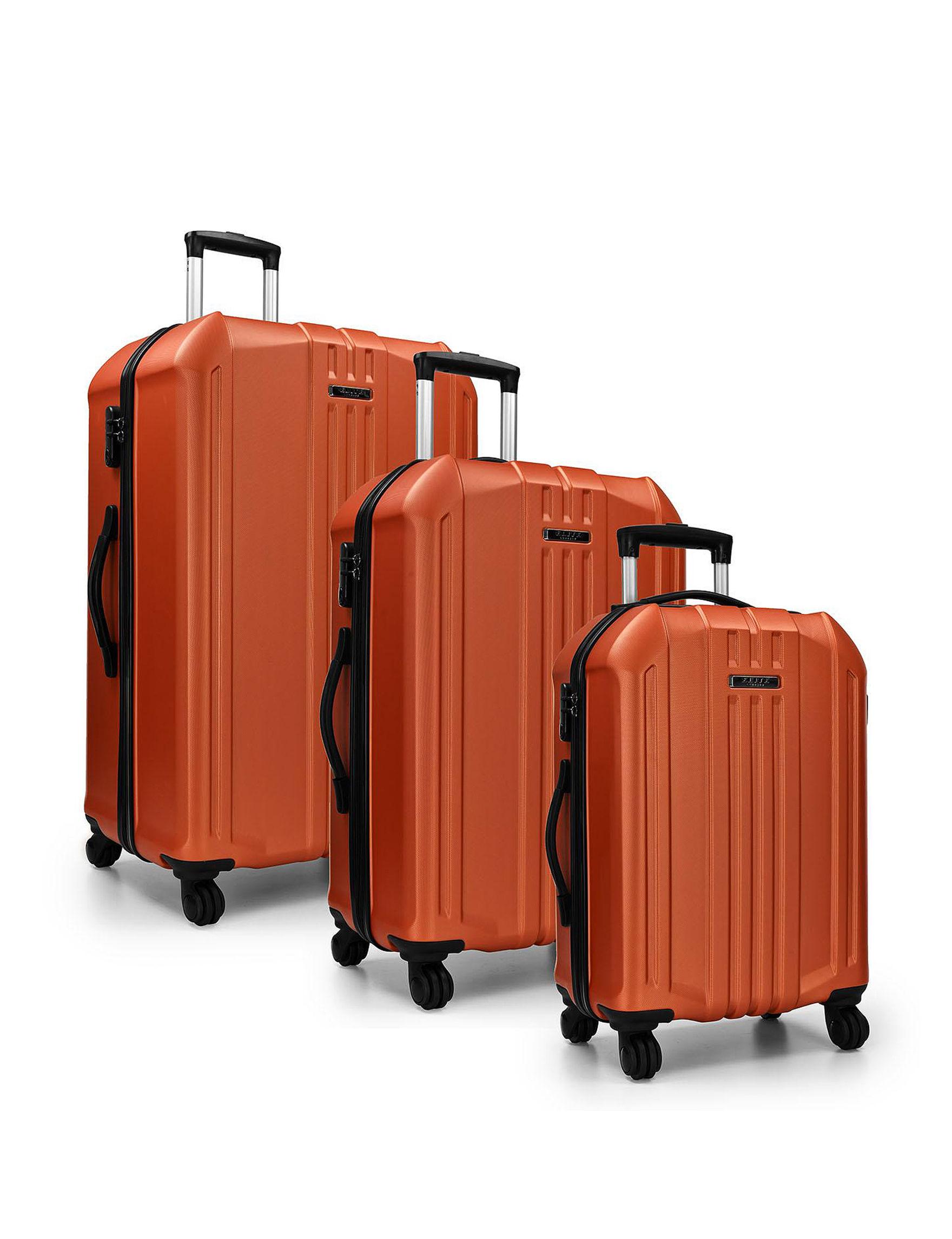 Travelers Choice Orange Hardside Upright Spinners