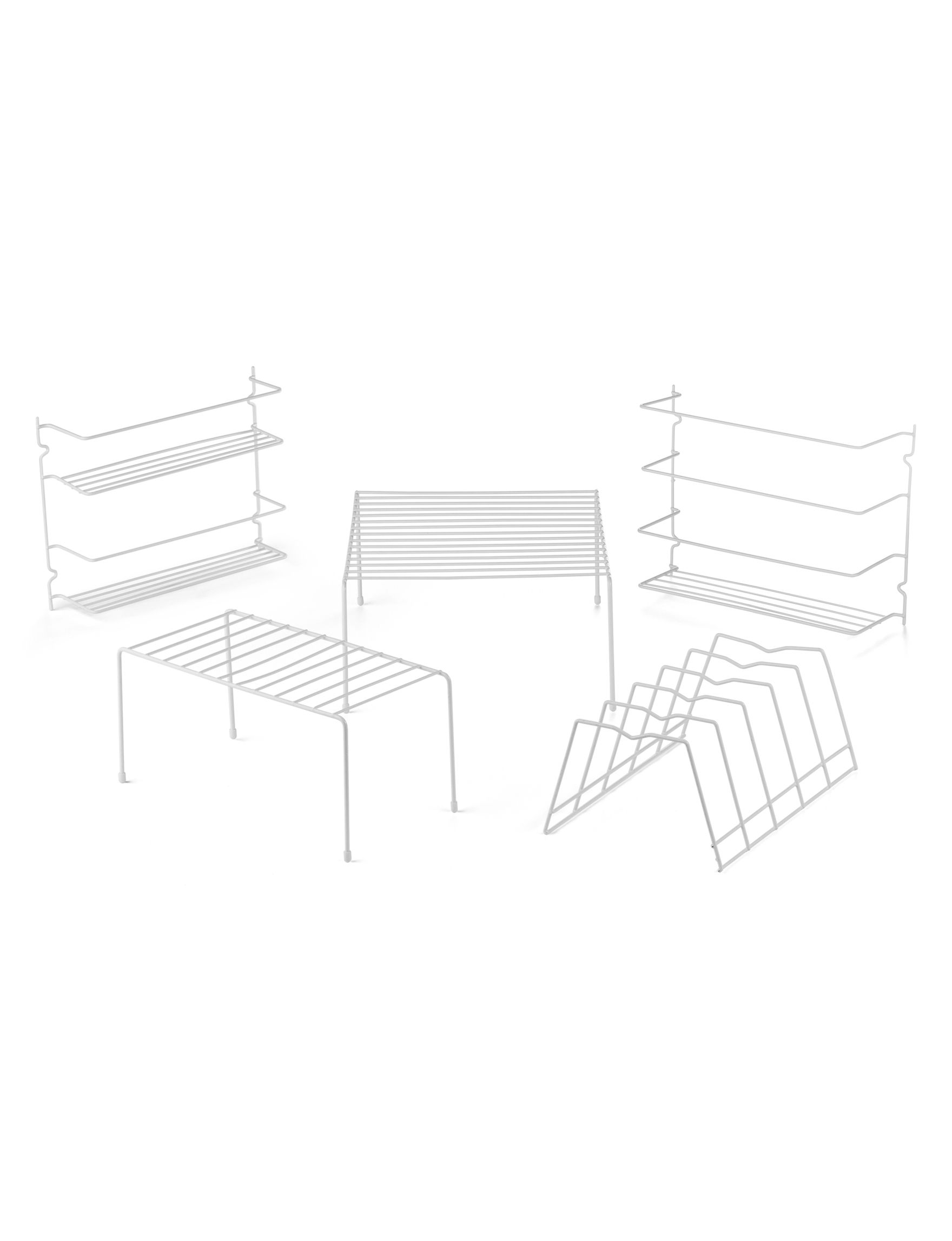 Home Basics White Storage Shelves Storage & Organization