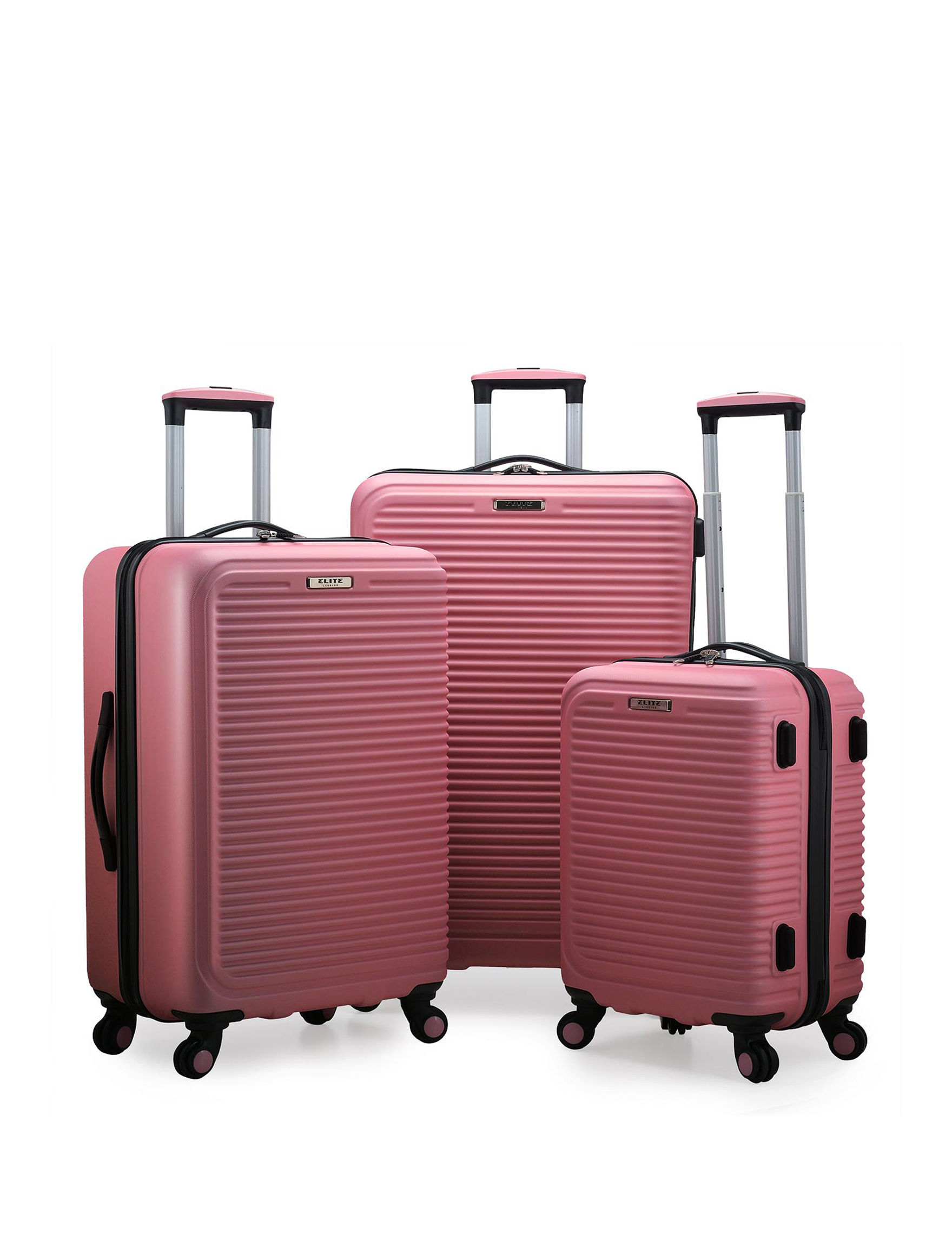 Travelers Choice Pink Hardside Upright Spinners