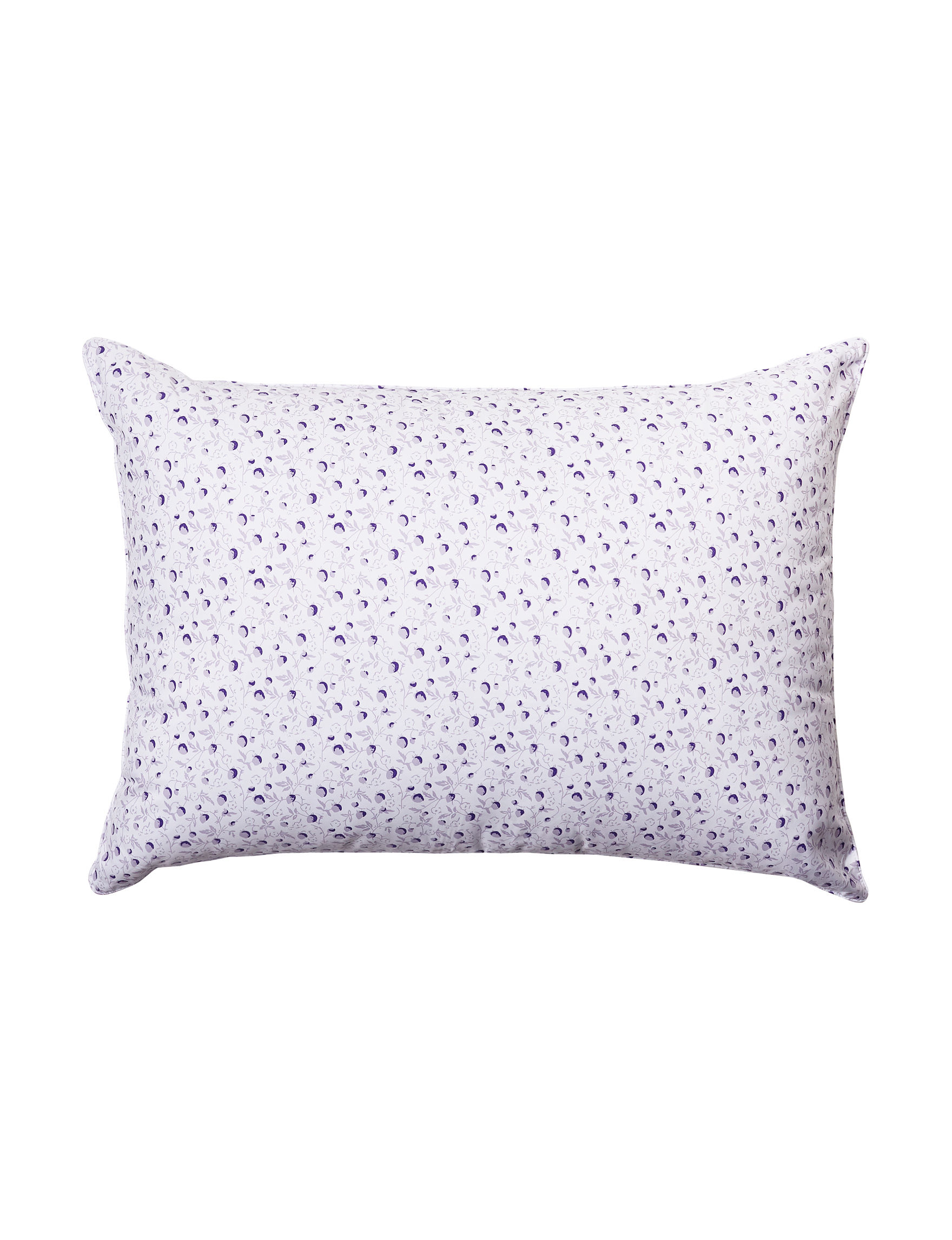 Laura Ashley White / Purple Bed Pillows