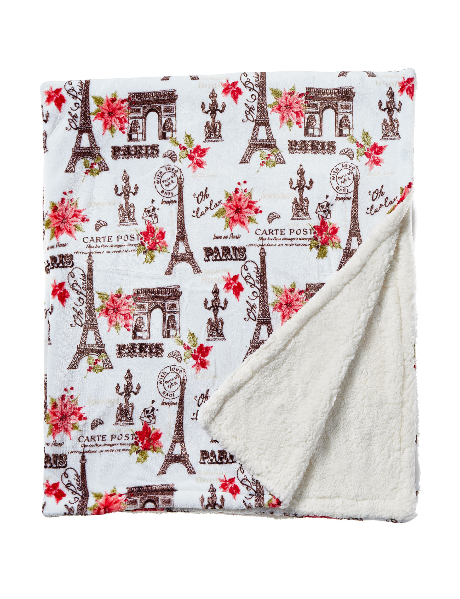Dream Home NY White / Multi Blankets & Throws