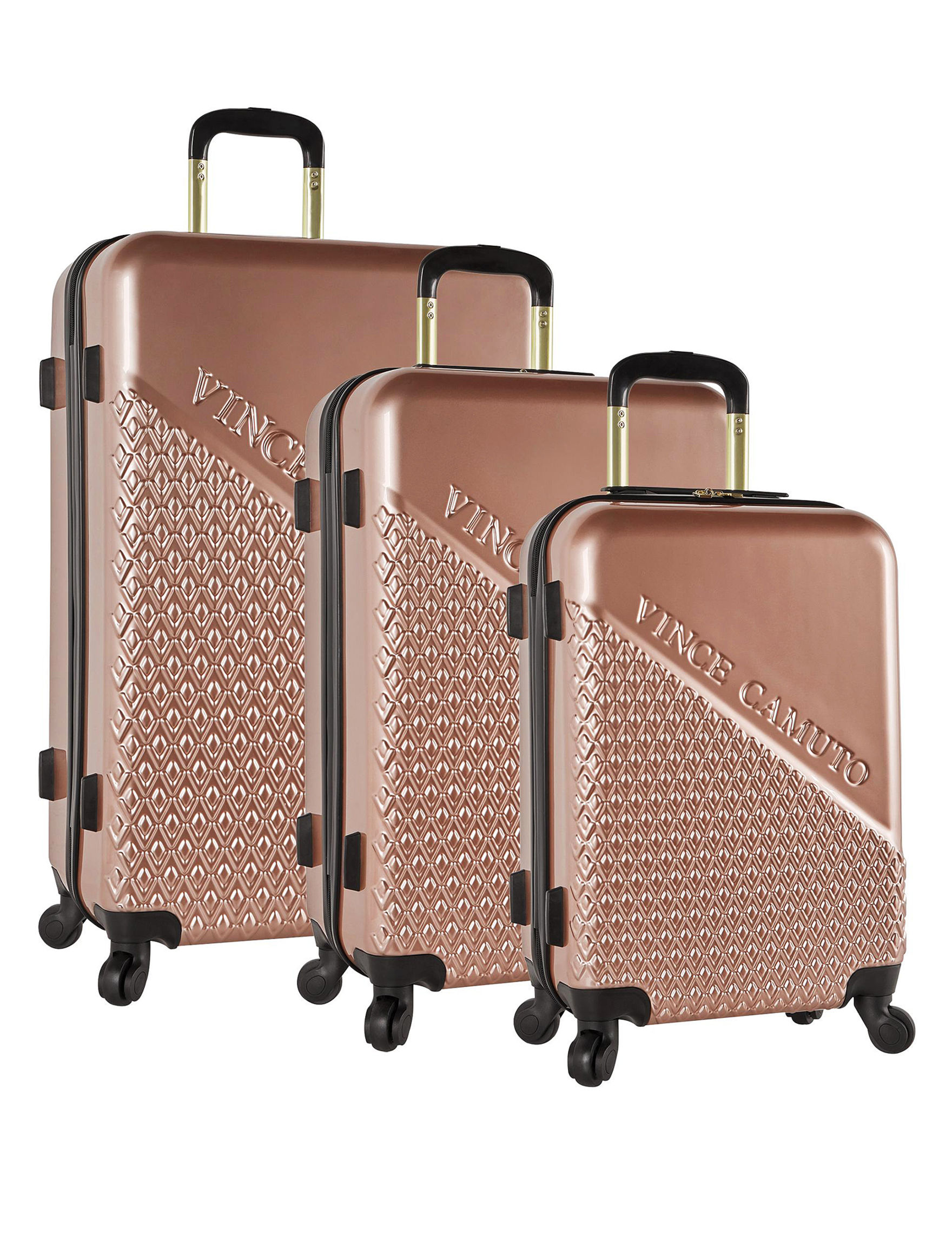 Vince Camuto Rose Gold Hardside Upright Spinners