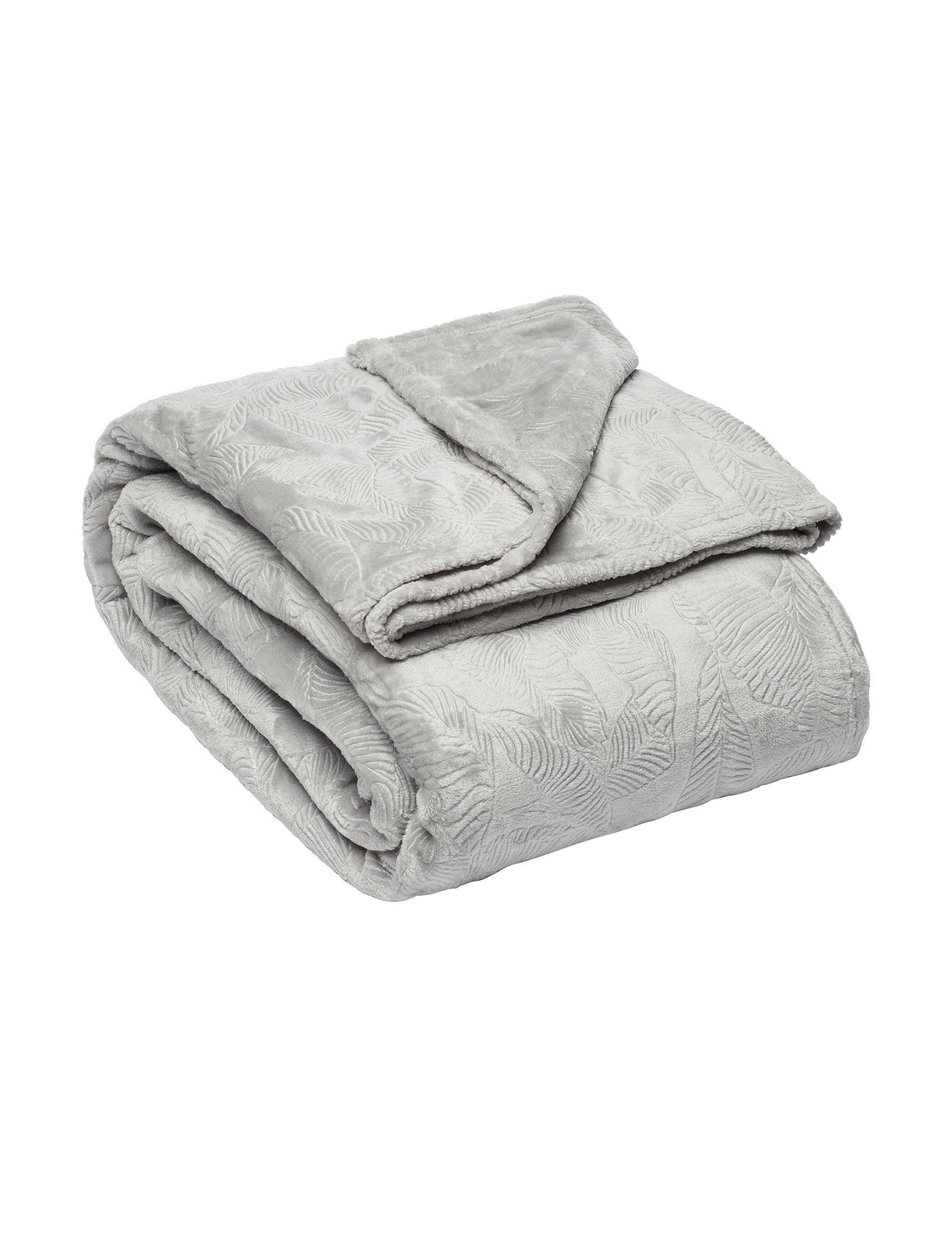 Elle Silver Blankets & Throws