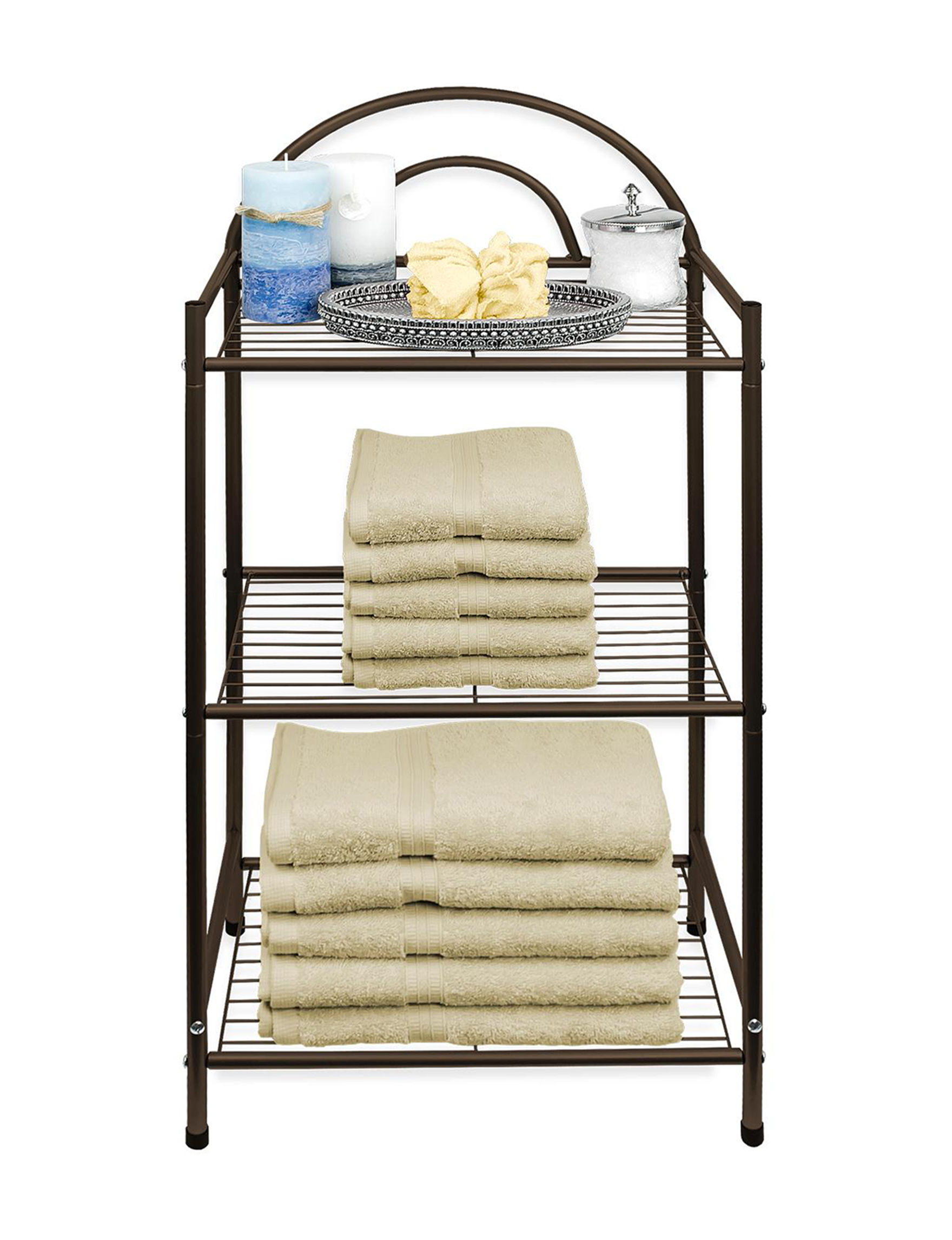 Home Collection Bronze Bath Accessories Storage & Organization