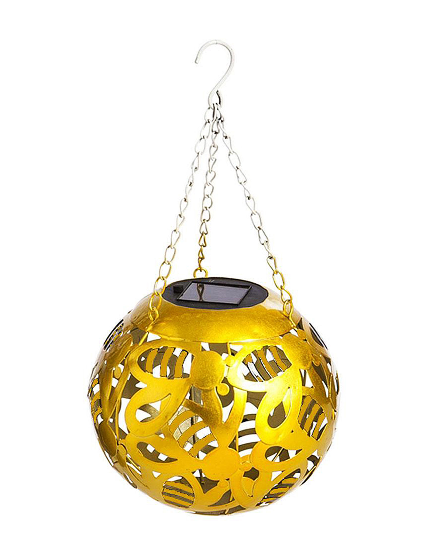 B&G Sales Inc. Gold Garden Decor & Planters Lights & Lanterns Outdoor Decor
