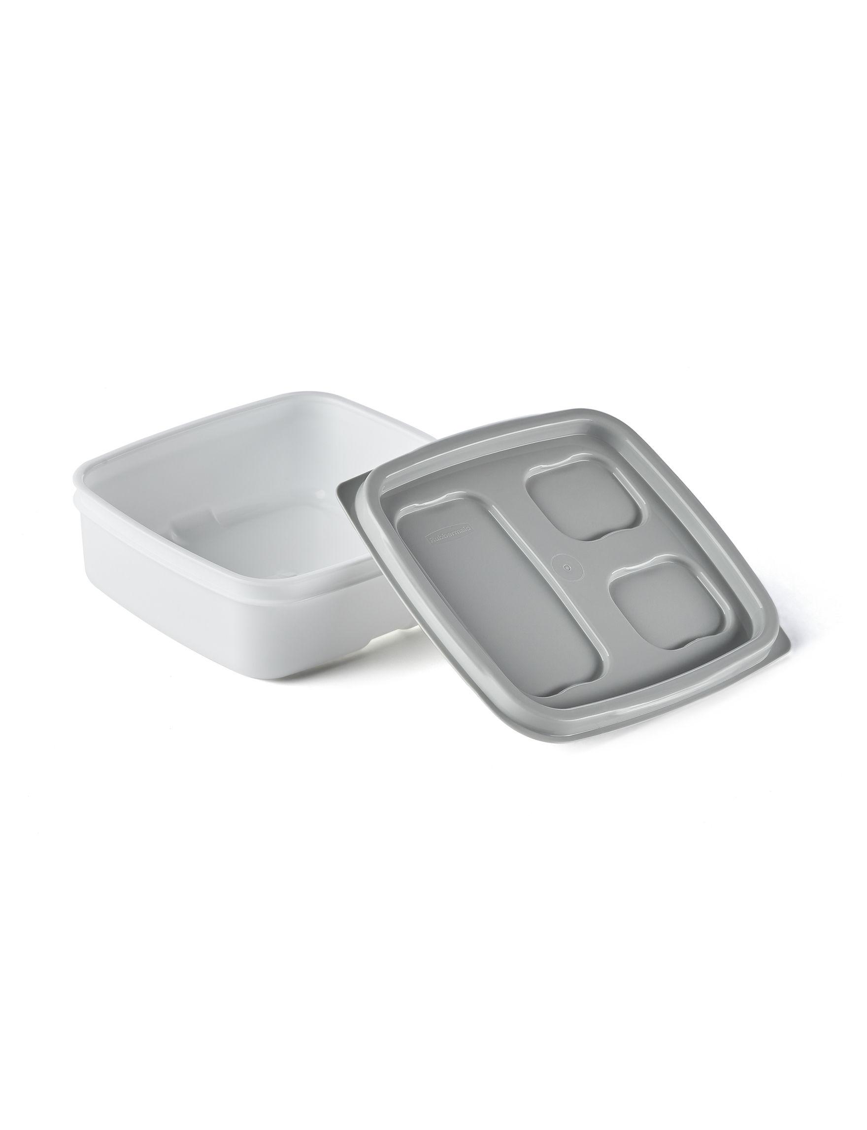 Rubbermaid White / Silver Food Storage Kitchen Storage & Organization