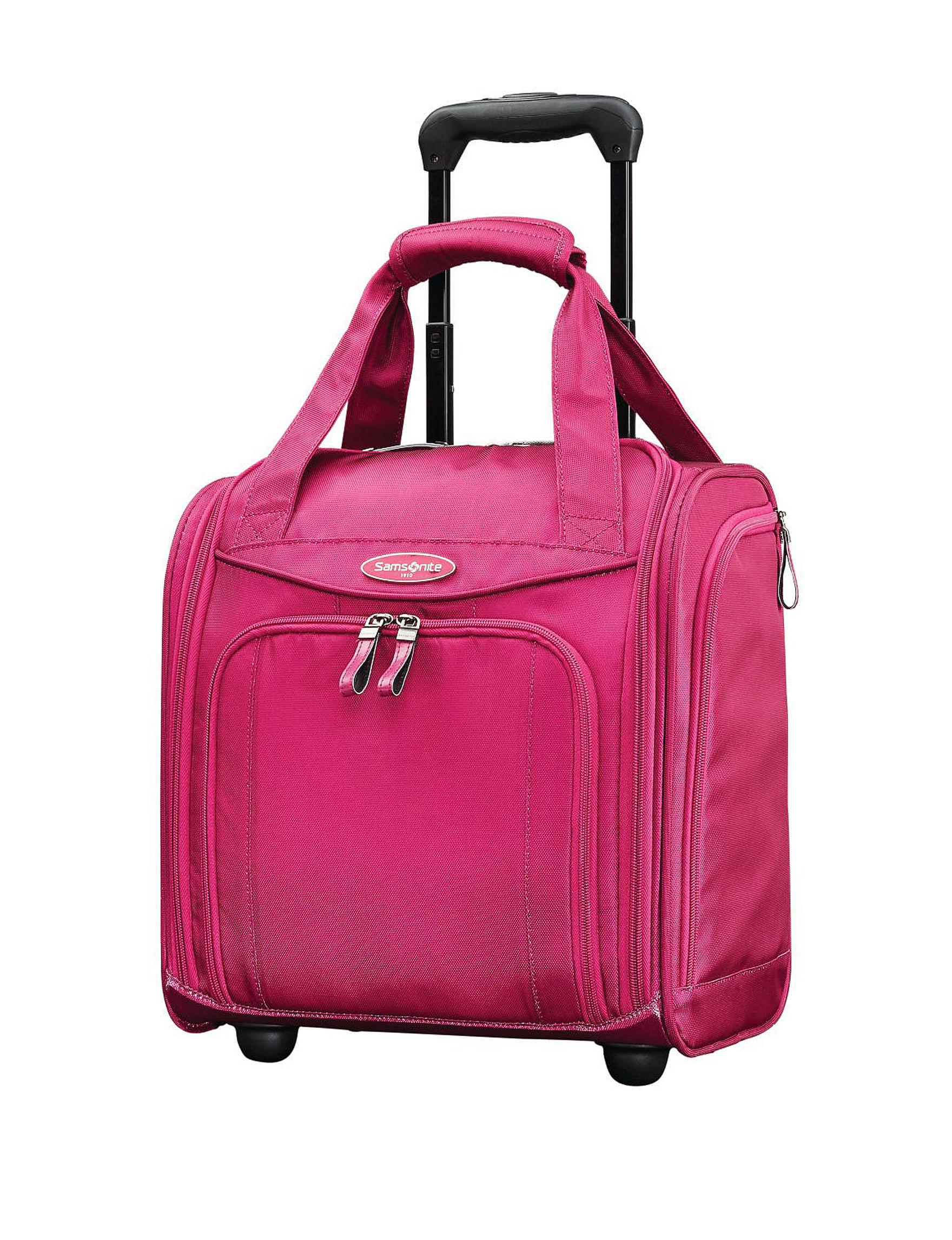 Samsonite Pink Softside Carry On Luggage