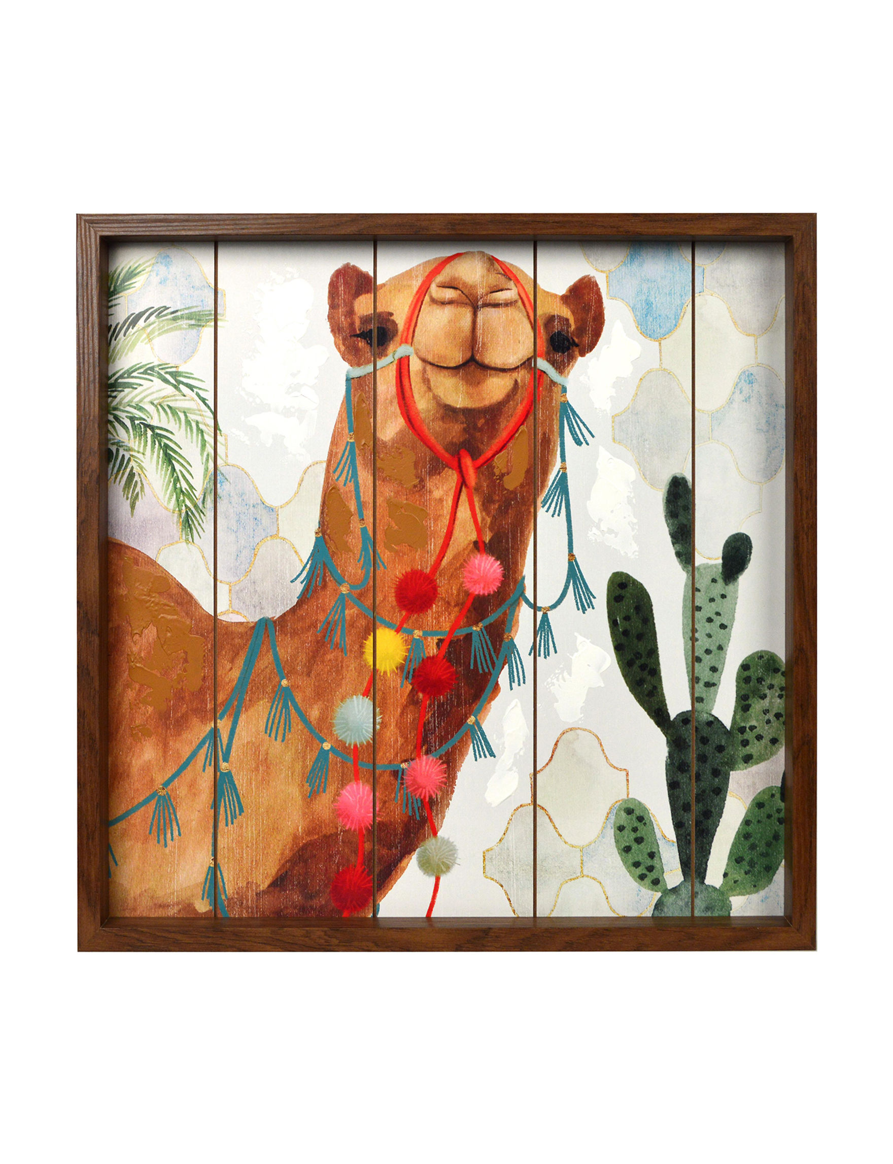 New View Tan Wall Art Home Accents Wall Decor