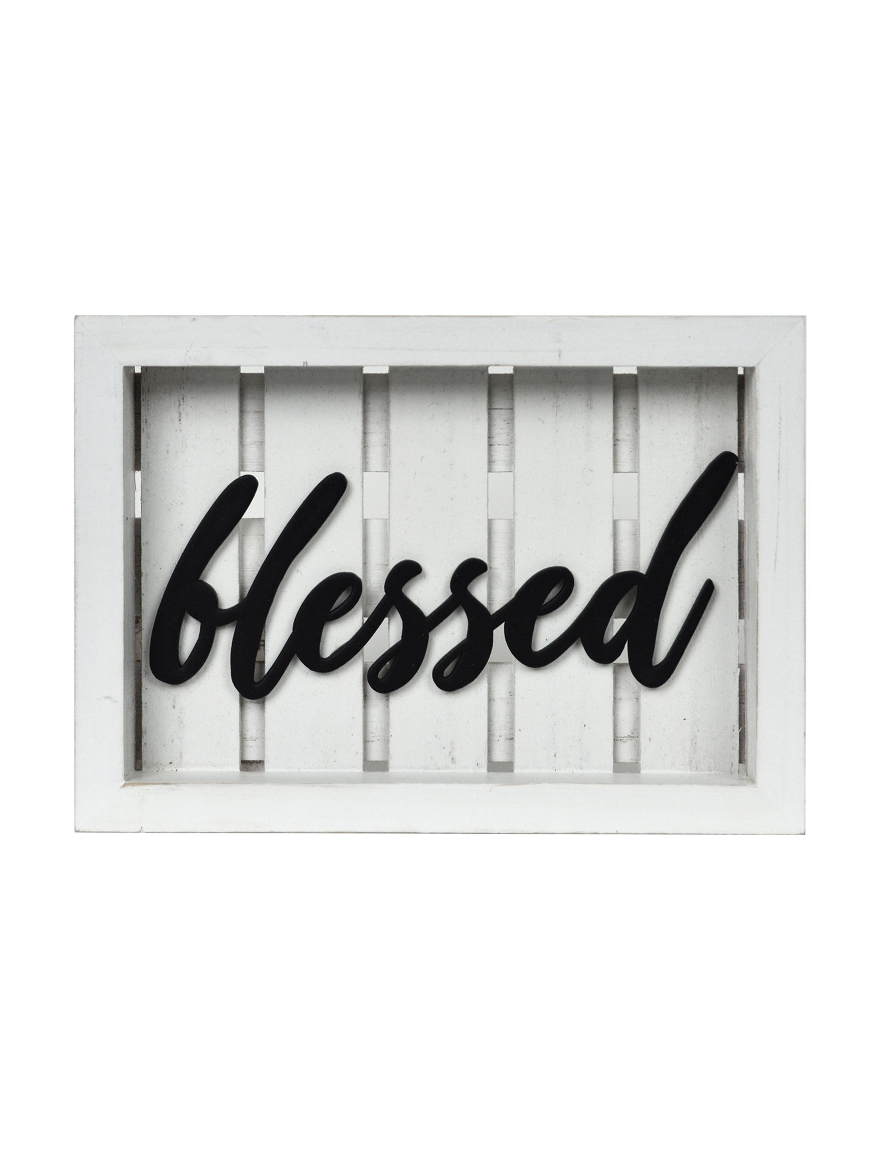 New View White Home Accents Wall Decor