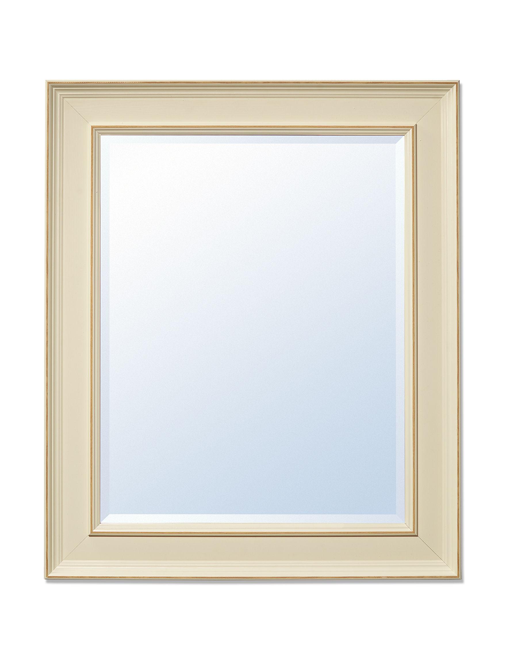 Enchante White Mirrors Wall Decor