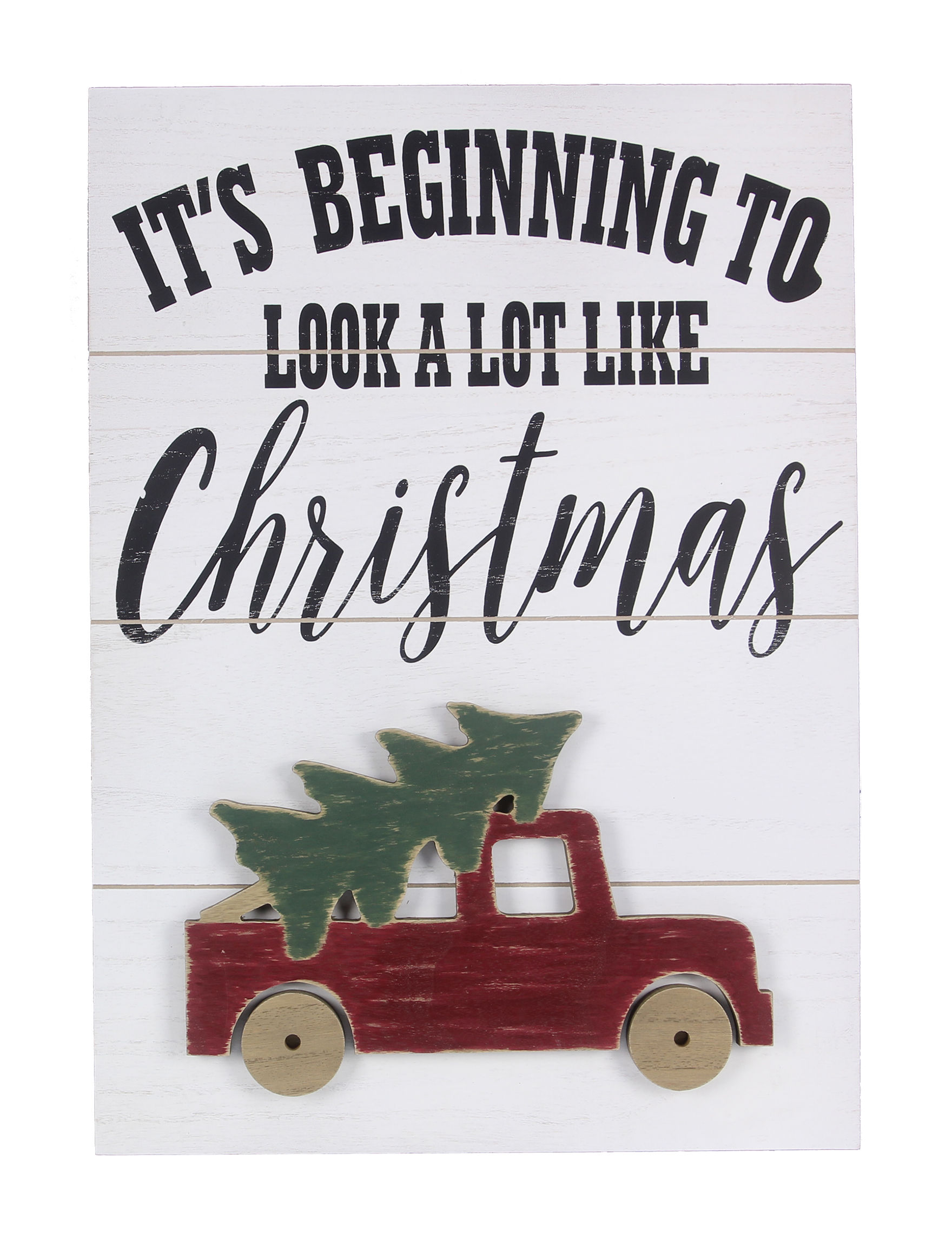 Young's Inc. White Multi Holiday Decor Wall Decor