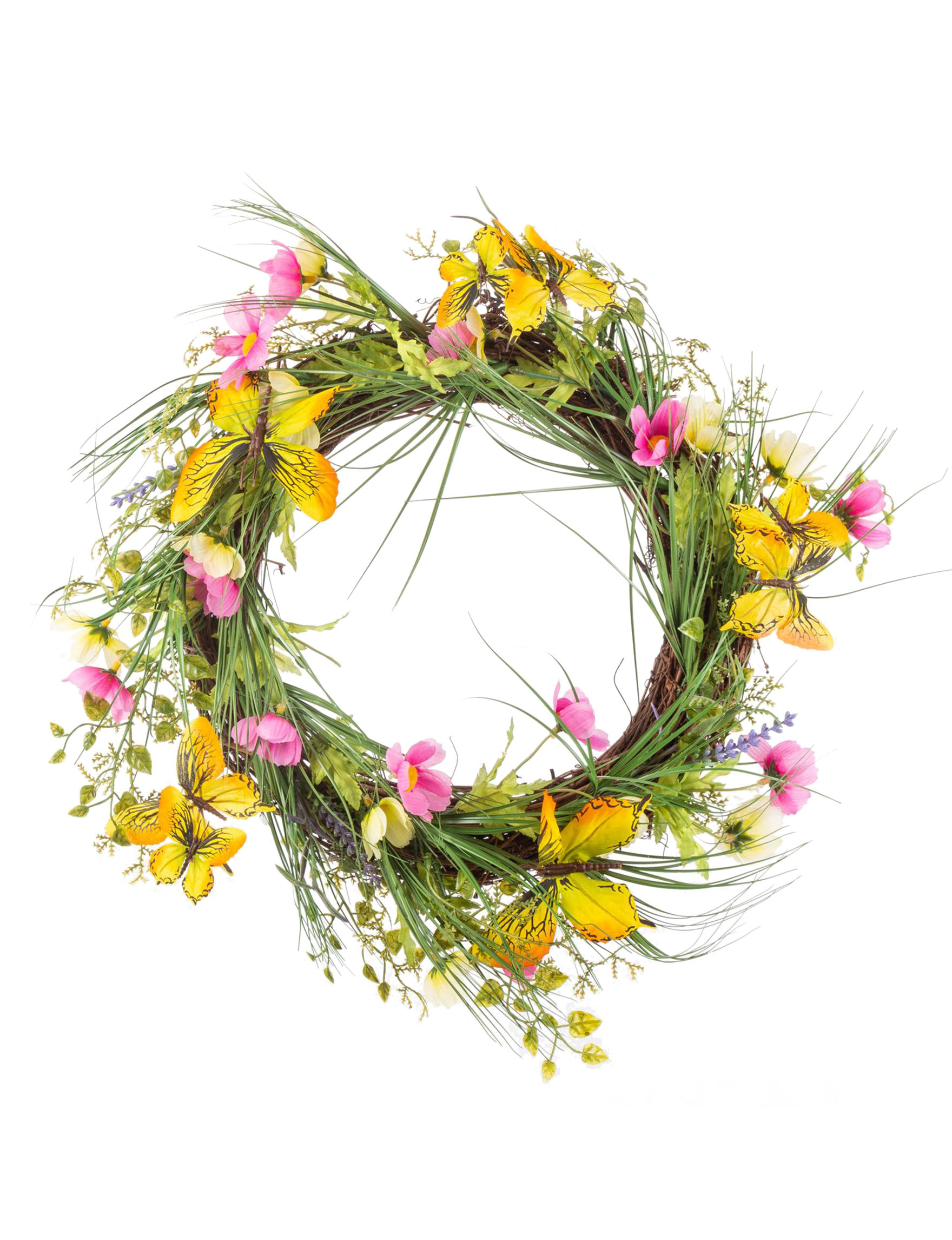 Gerson Pink / Yellow Wreaths & Garland Home Accents