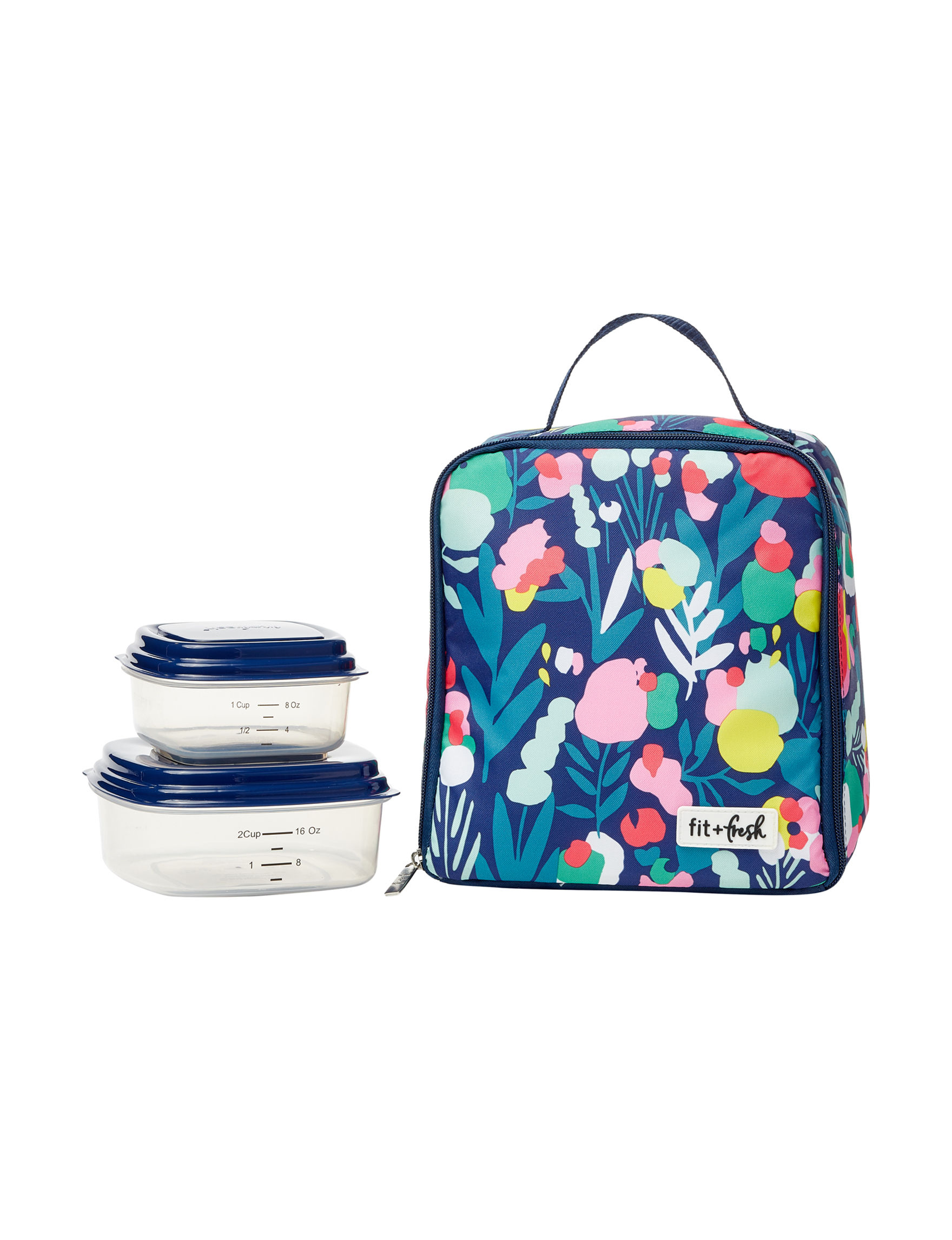 Fit & Fresh Blue Floral Lunch Boxes & Bags Kitchen Storage & Organization