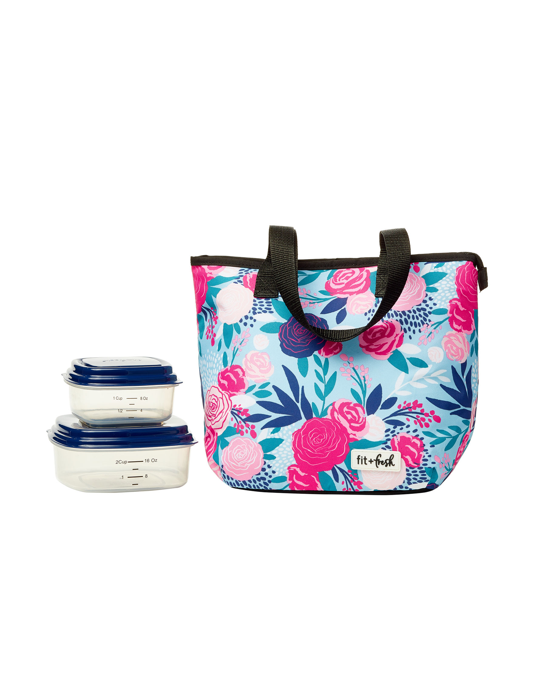 Fit & Fresh Pink Floral Lunch Boxes & Bags Kitchen Storage & Organization