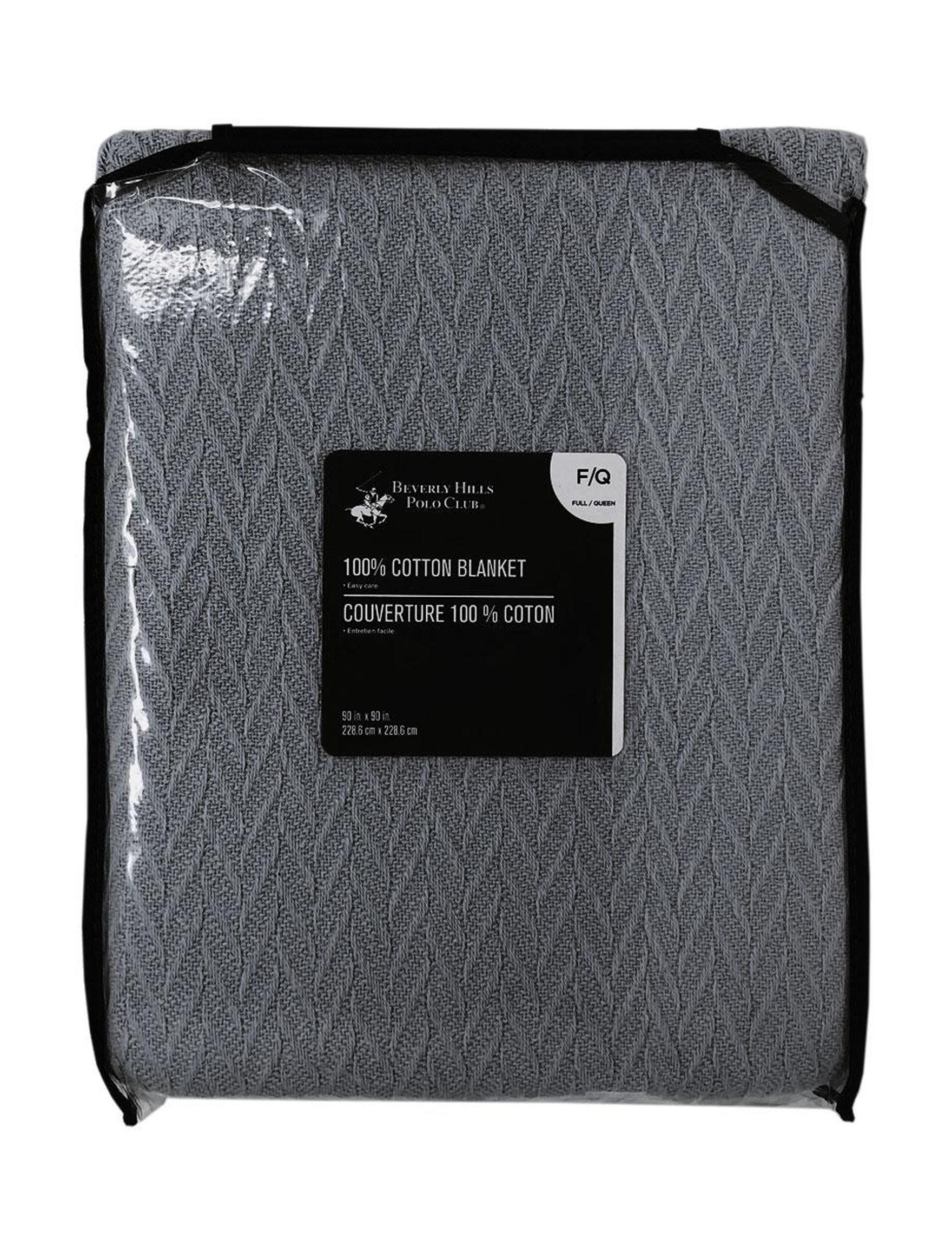 Beverly Hills Polo Club Dark Grey Blankets & Throws