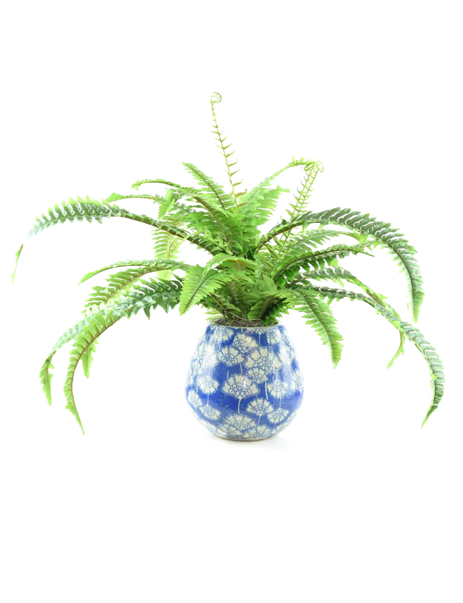 Blue / White Faux Plants Home Accents