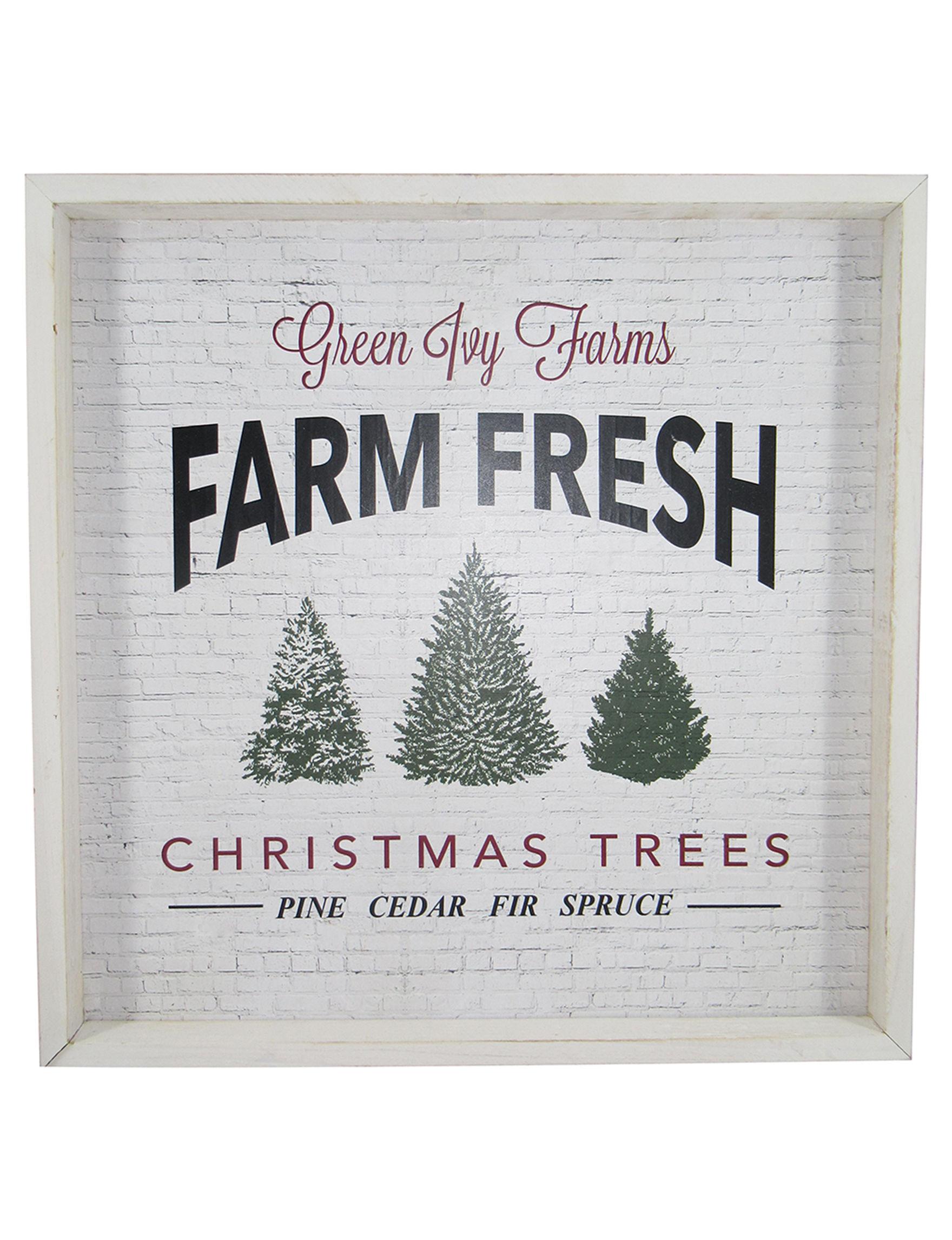 Novelty Trading Corp. White / Multi Decorative Objects Holiday Decor Wall Decor