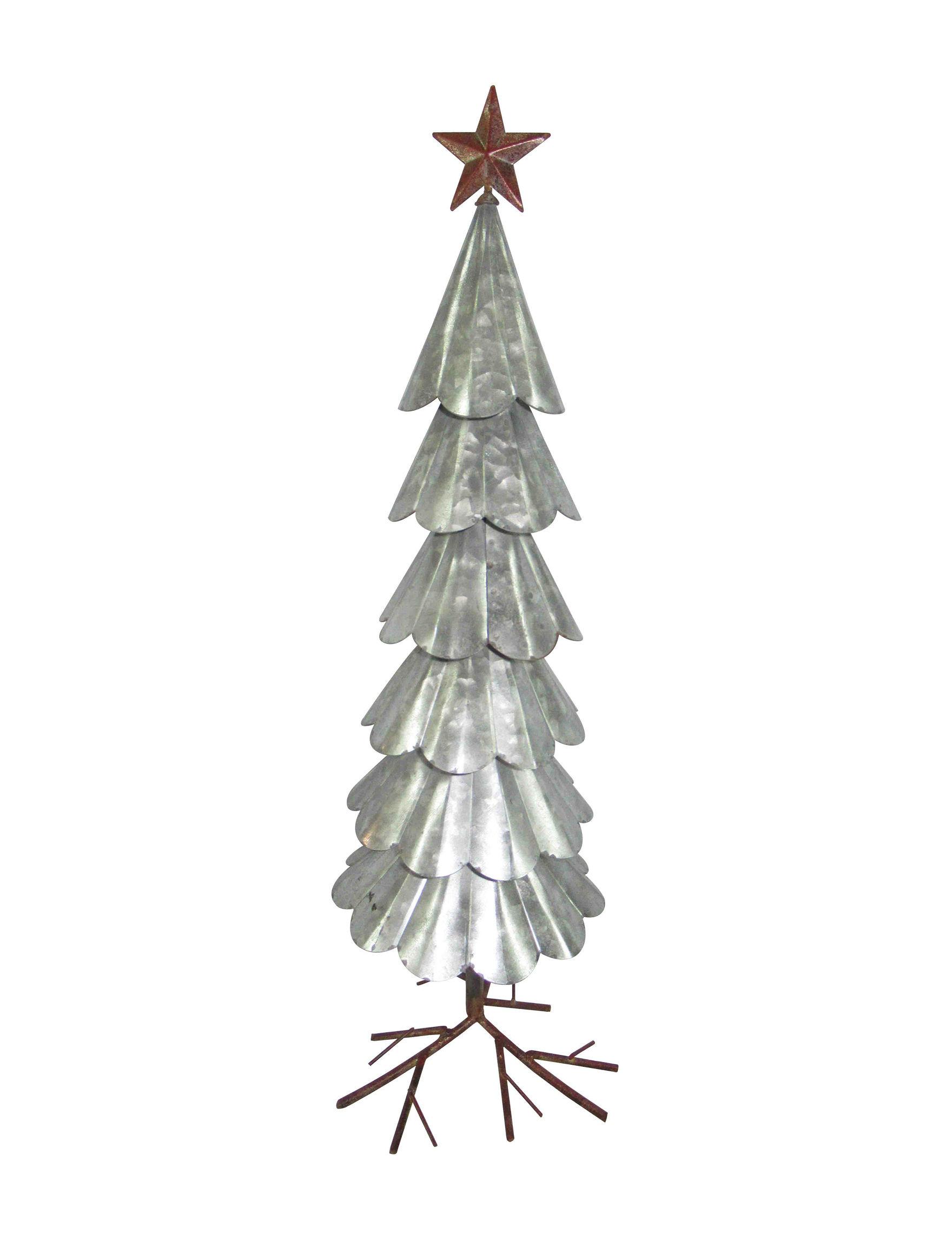 Novelty Trading Corp. Tin Christmas Trees Decorative Objects Holiday Decor