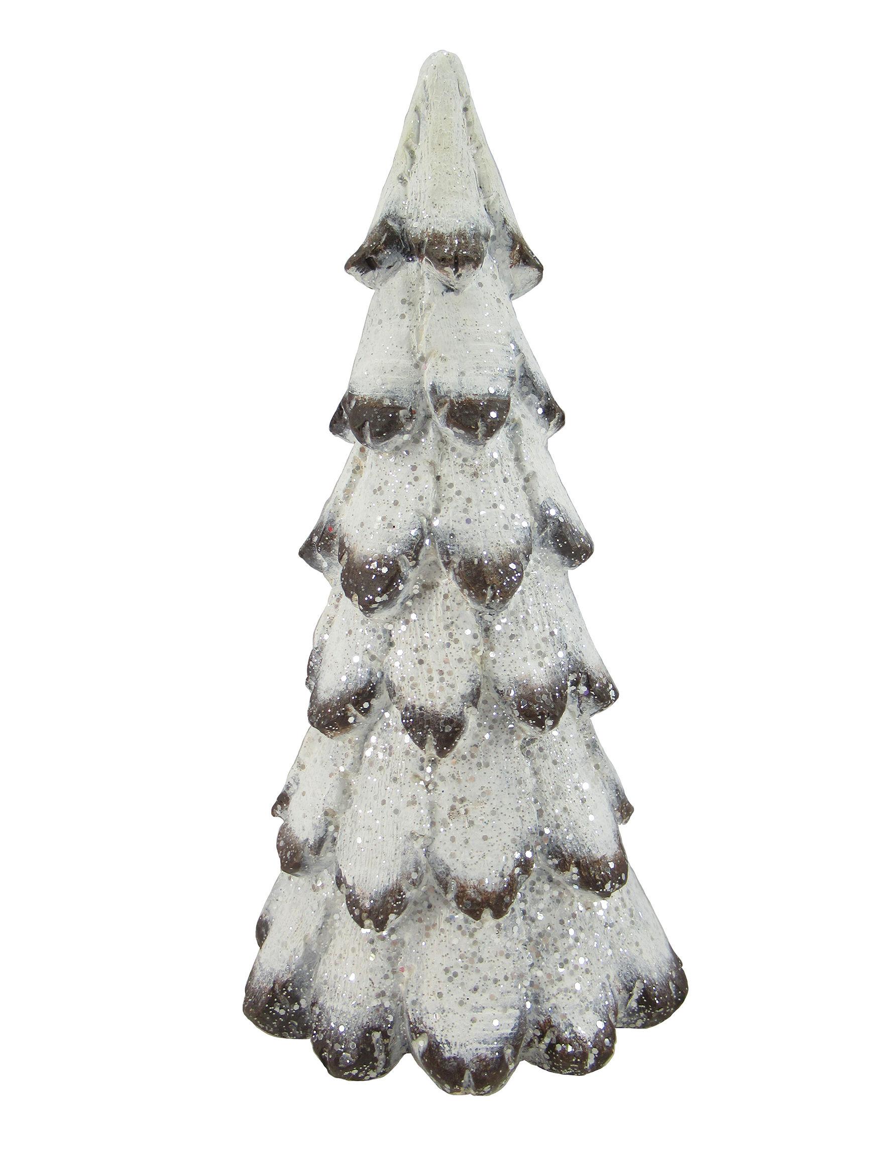 Novelty Trading Corp. White / Glitter Christmas Trees Decorative Objects Holiday Decor