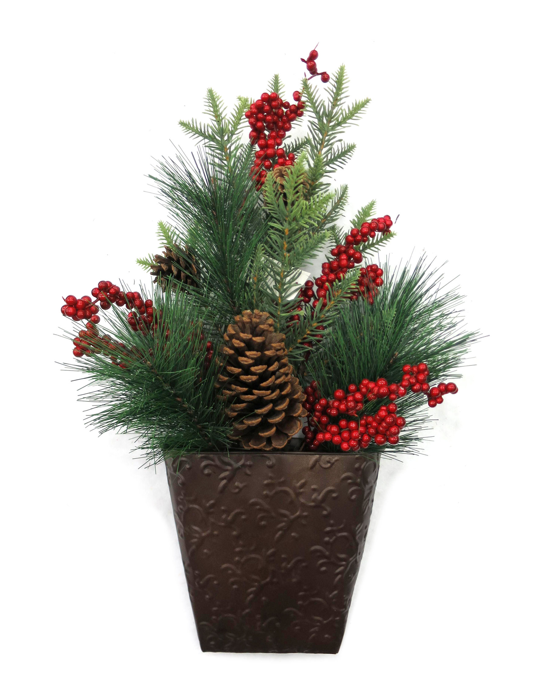 Evernoble Limit Green / Red Faux Plants Holiday Decor