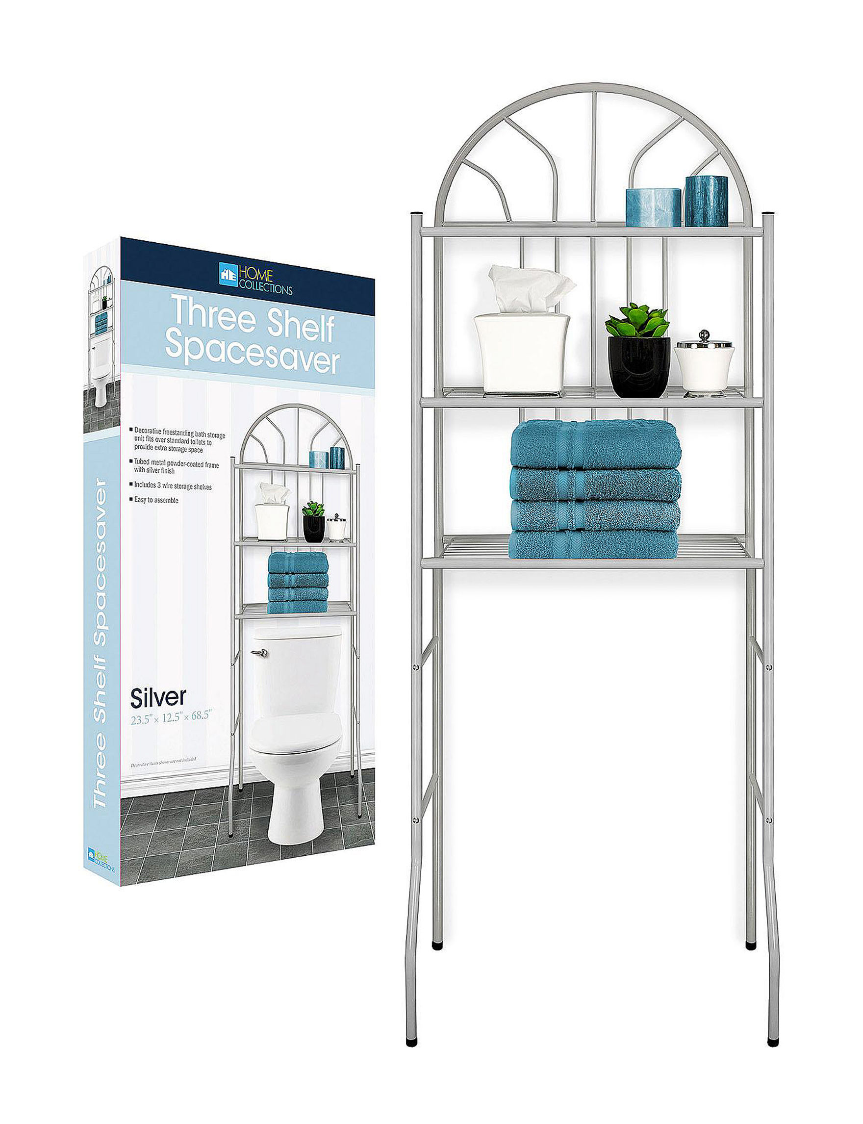 Home Expressions Silver Bath Accessories Storage & Organization