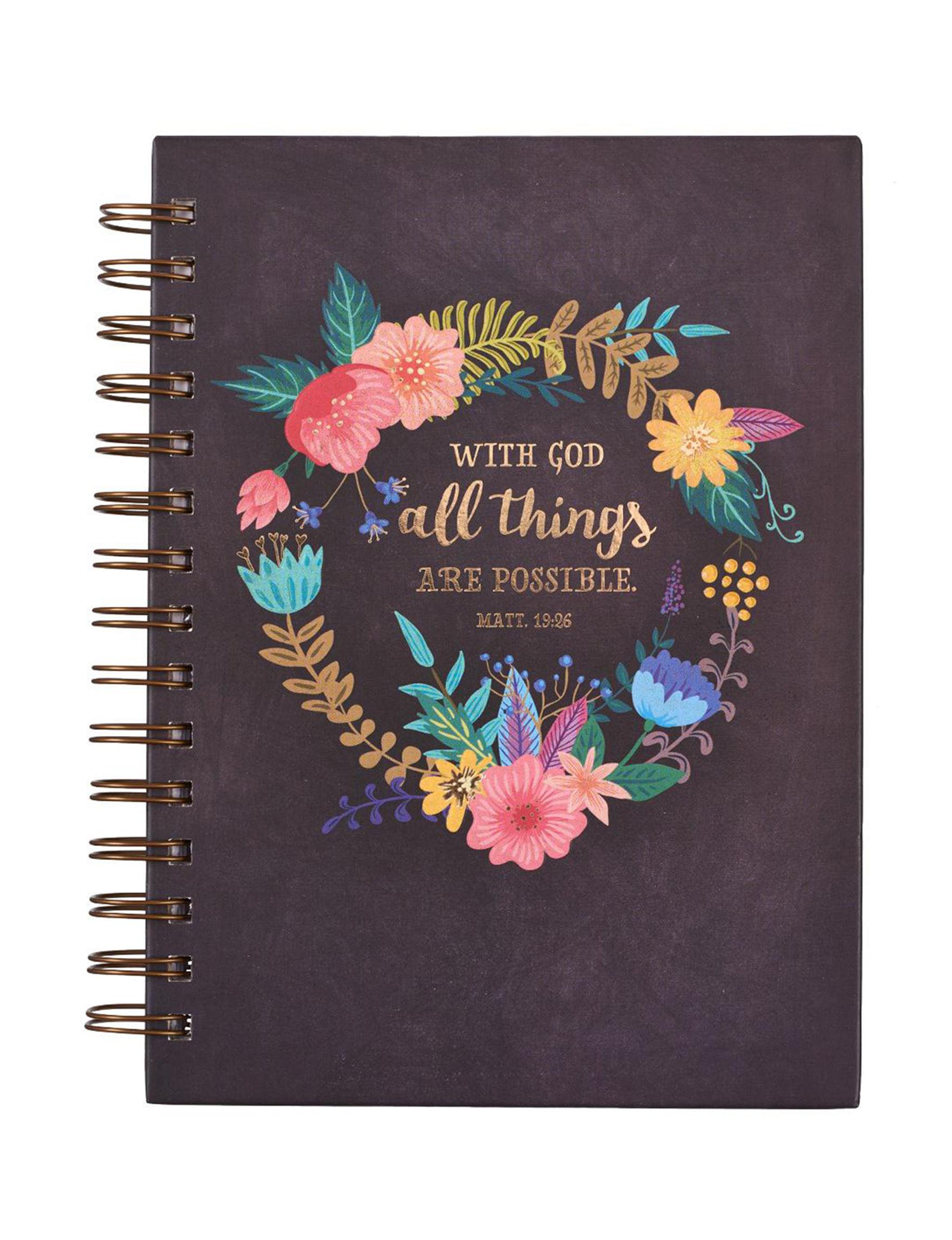 Christian Art Gifts Purple Floral Journals & Notepads School & Office Supplies