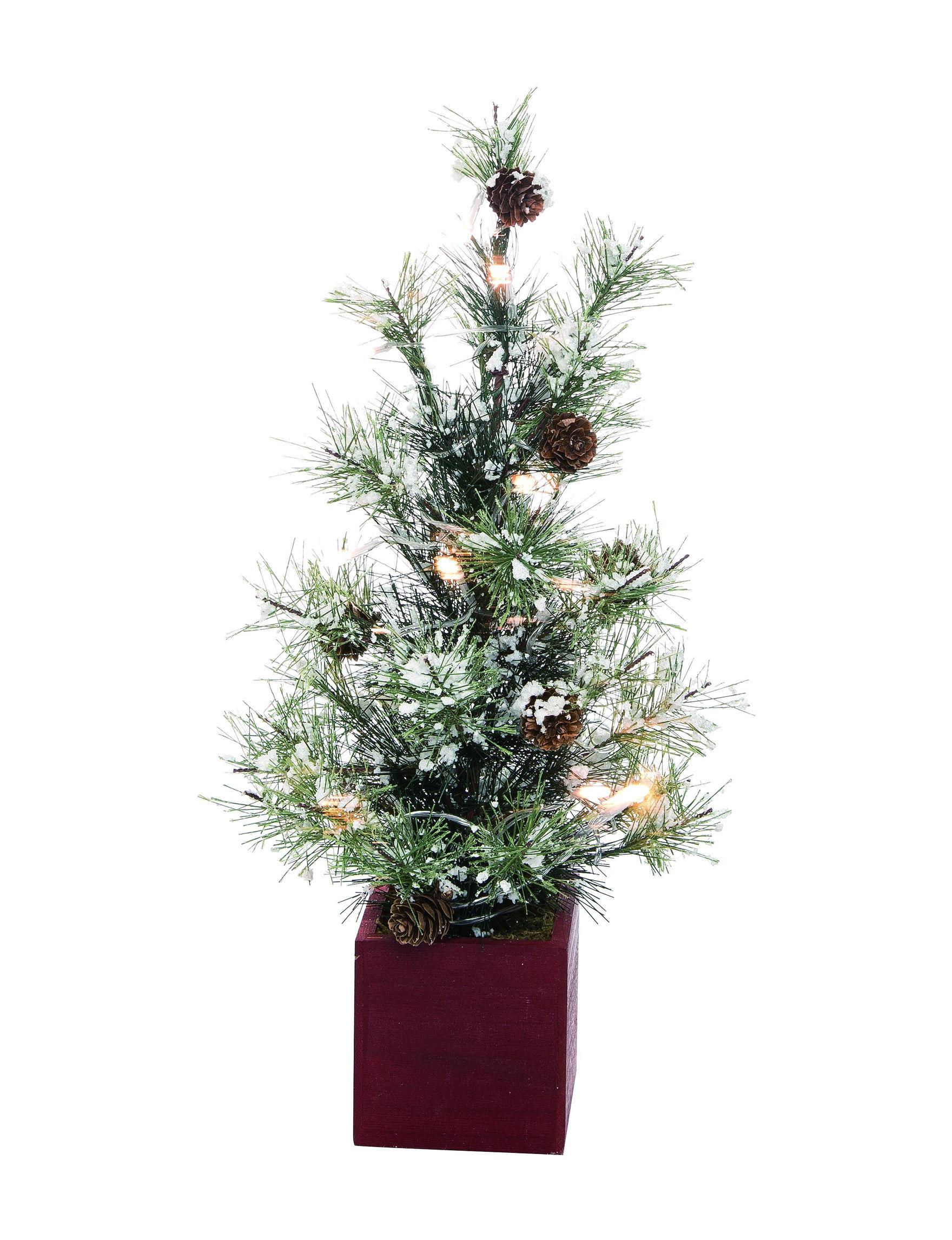 Transpac Green Faux Plants Holiday Decor