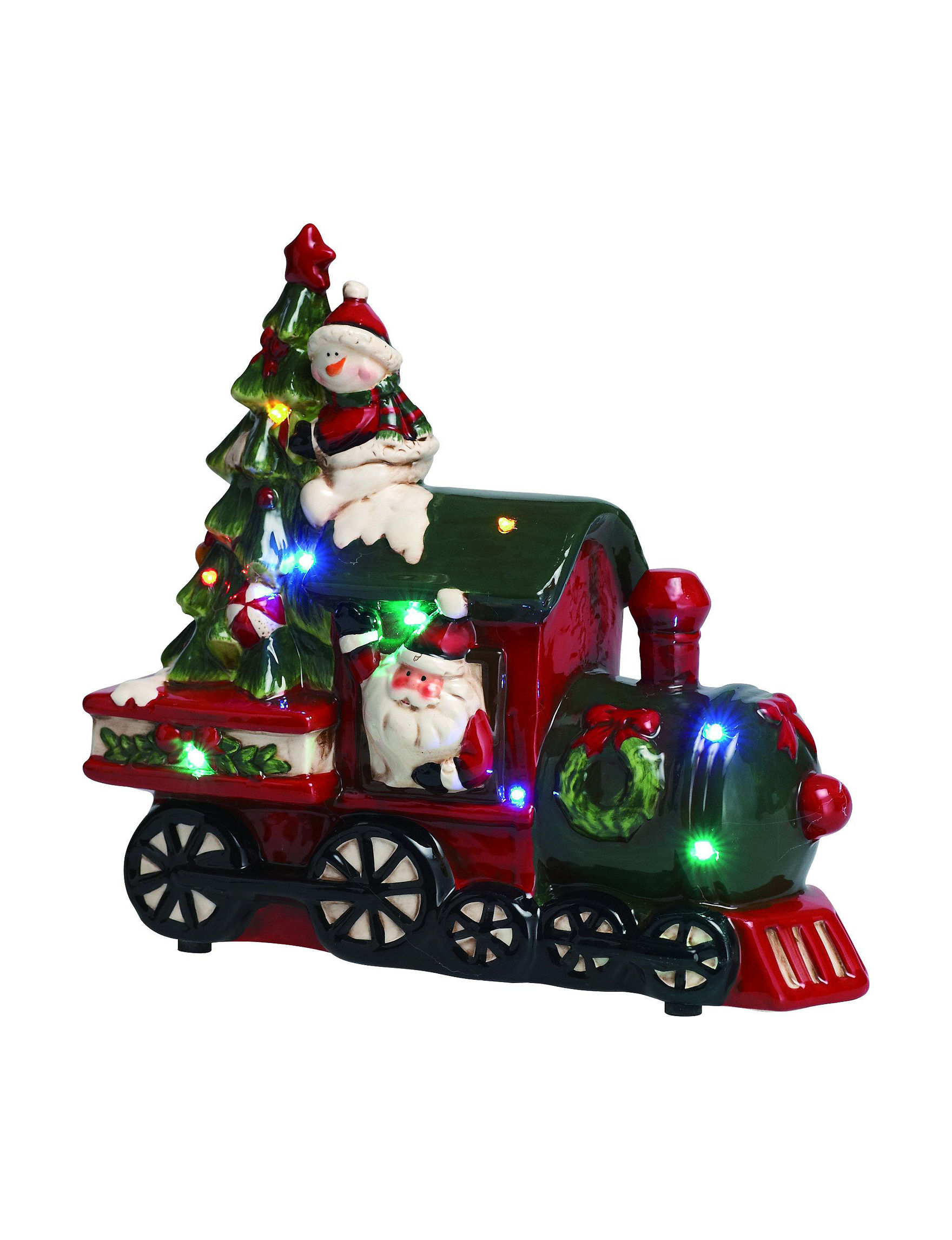 Transpac Red Multi Decorative Objects Holiday Decor