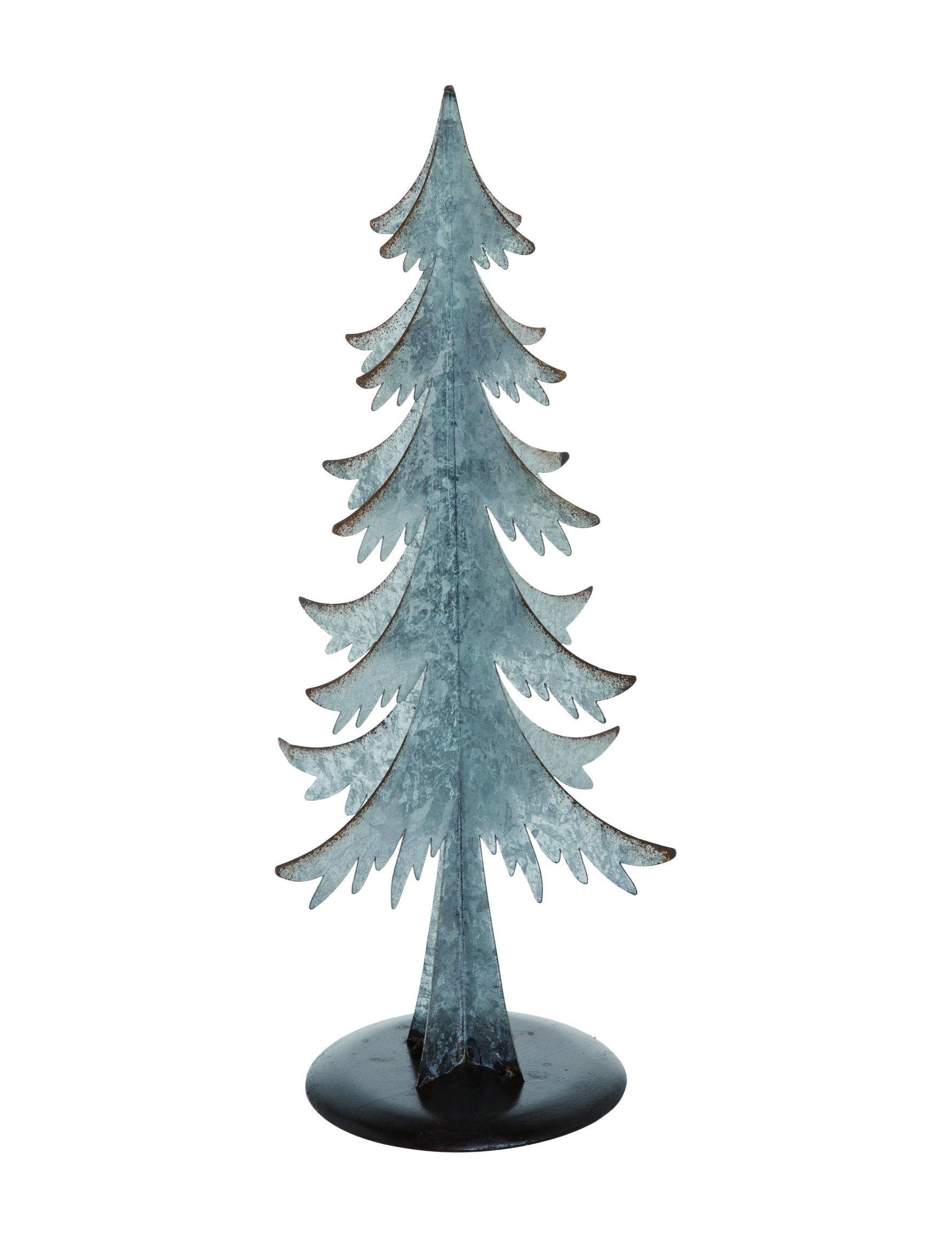 Transpac Galvanized Decorative Objects Holiday Decor
