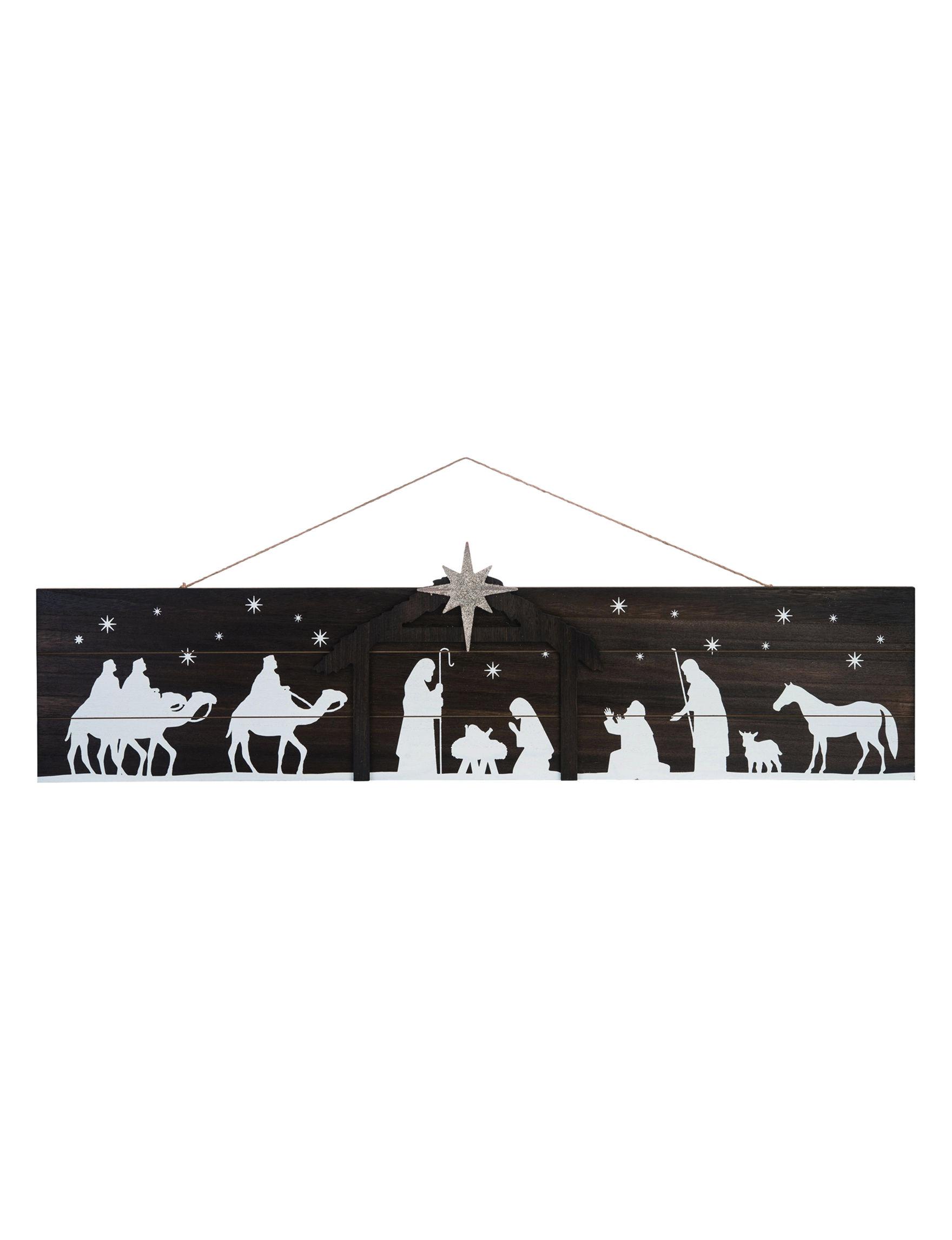 Transpac Dark Brown Decorative Objects Holiday Decor