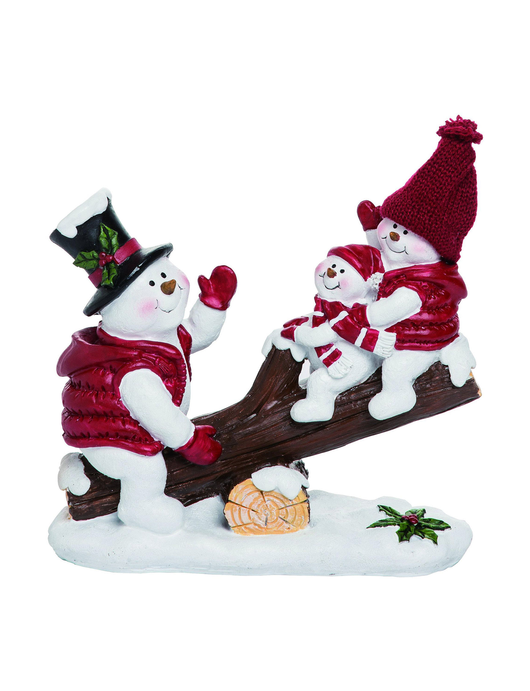Transpac White / Red Decorative Objects Holiday Decor