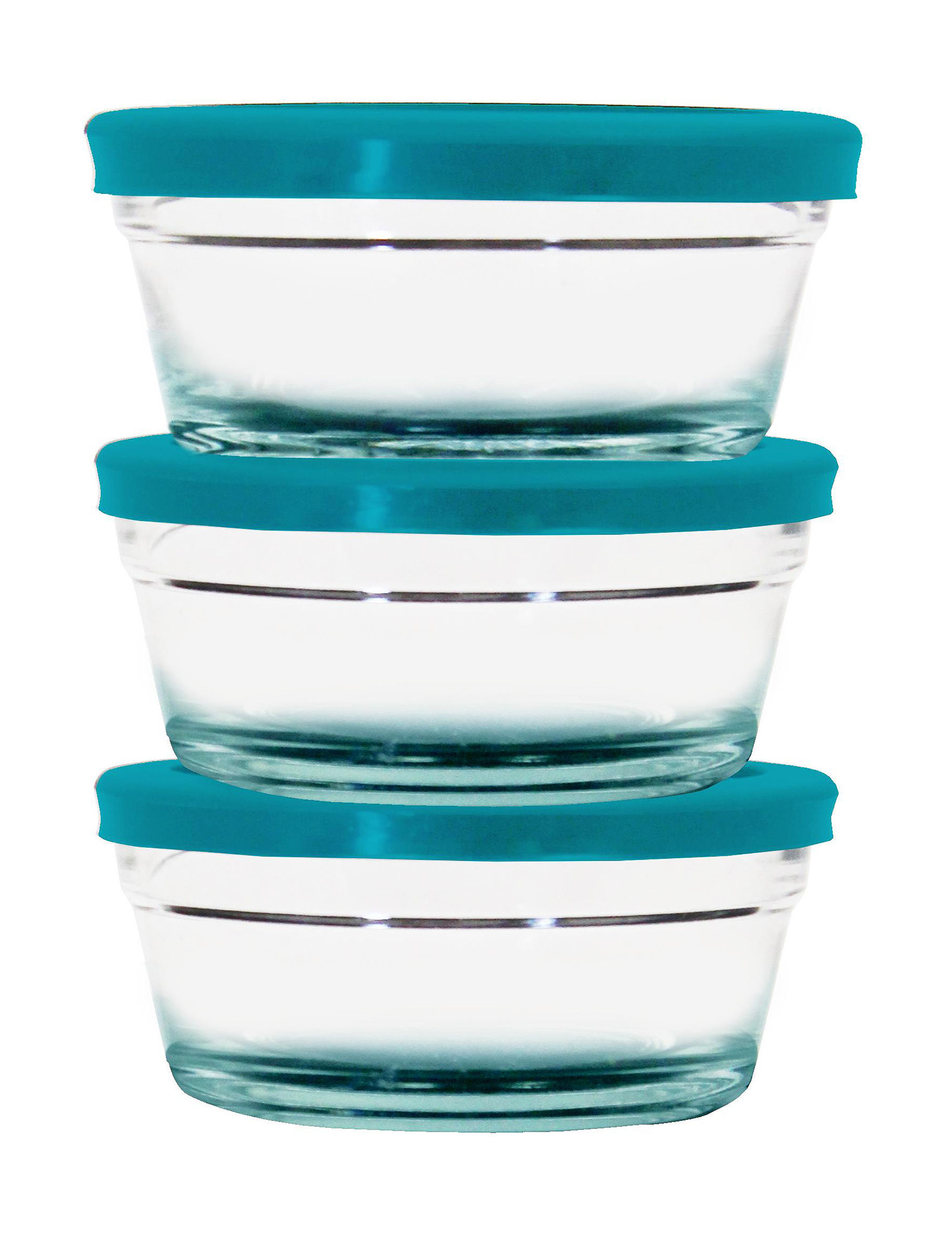Farberware Turquoise Bowls Food Storage Kitchen Storage & Organization