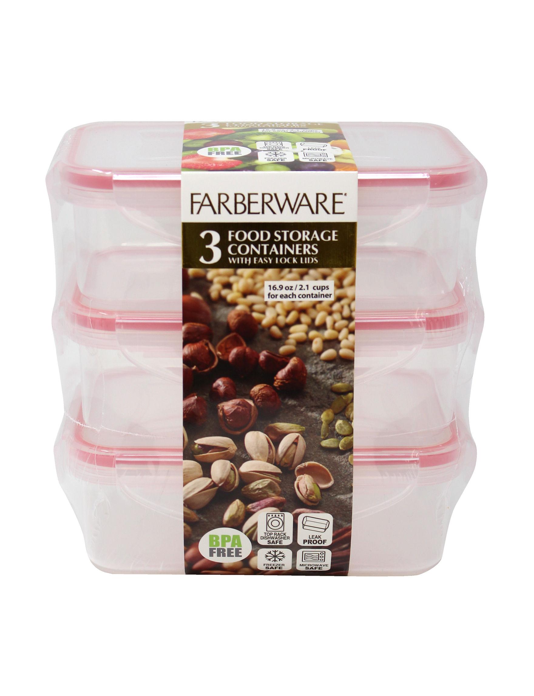 Farberware Red Food Storage Kitchen Storage & Organization