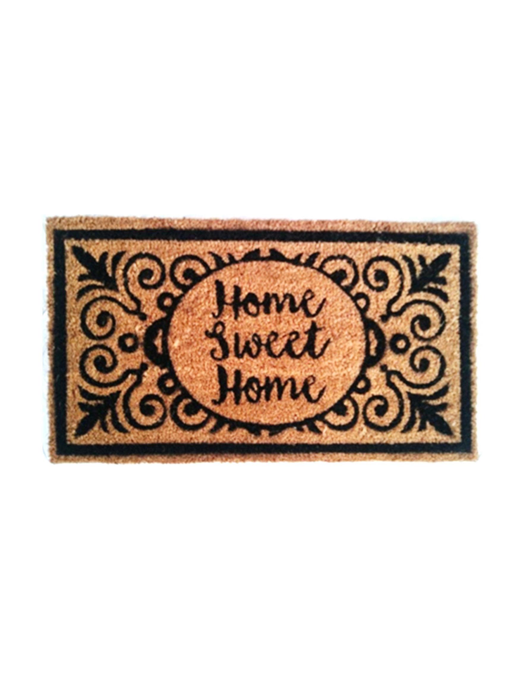 Direct Home Textiles Brown / Black Outdoor Rugs & Doormats Outdoor Decor Rugs