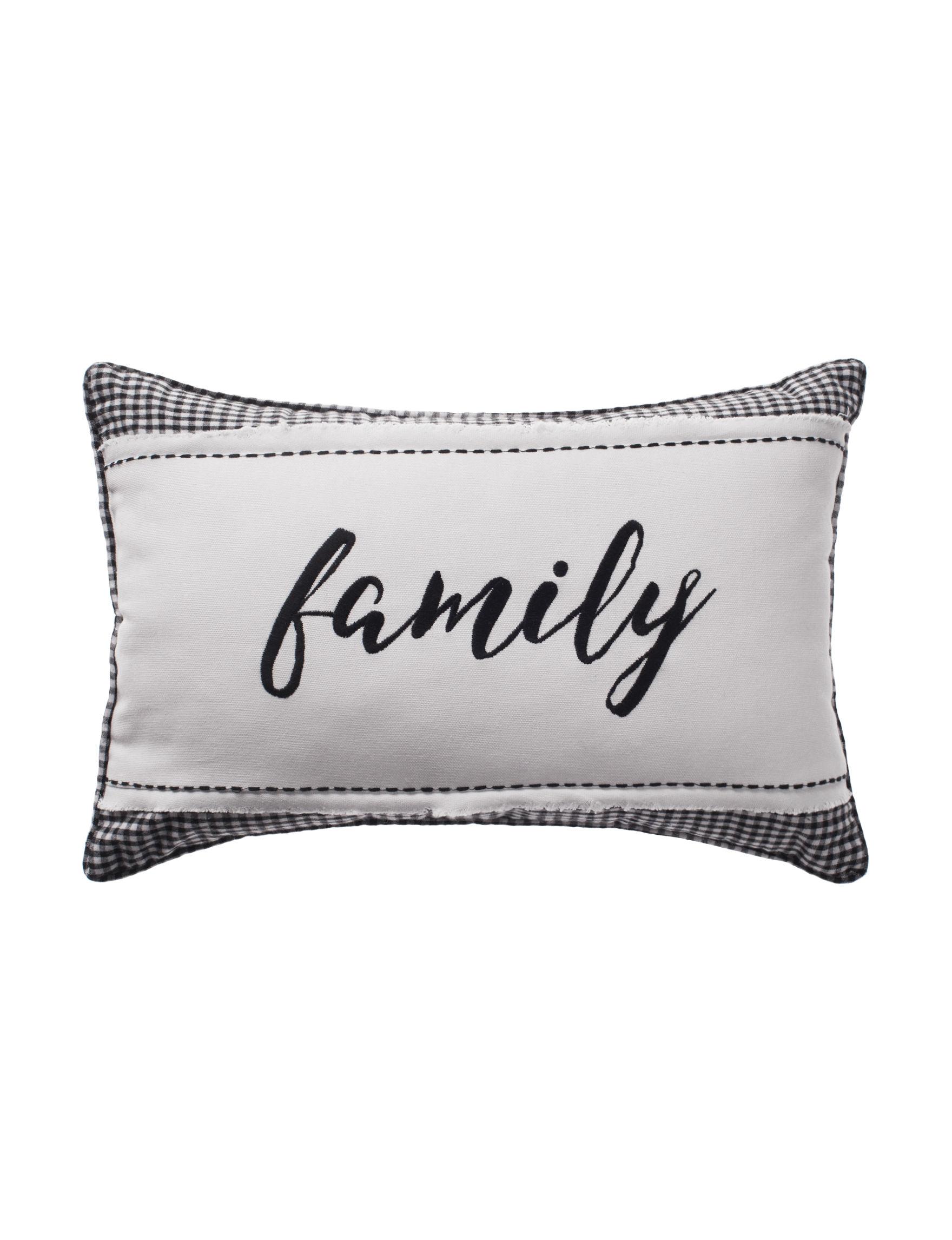 Deco White / Black Decorative Pillows